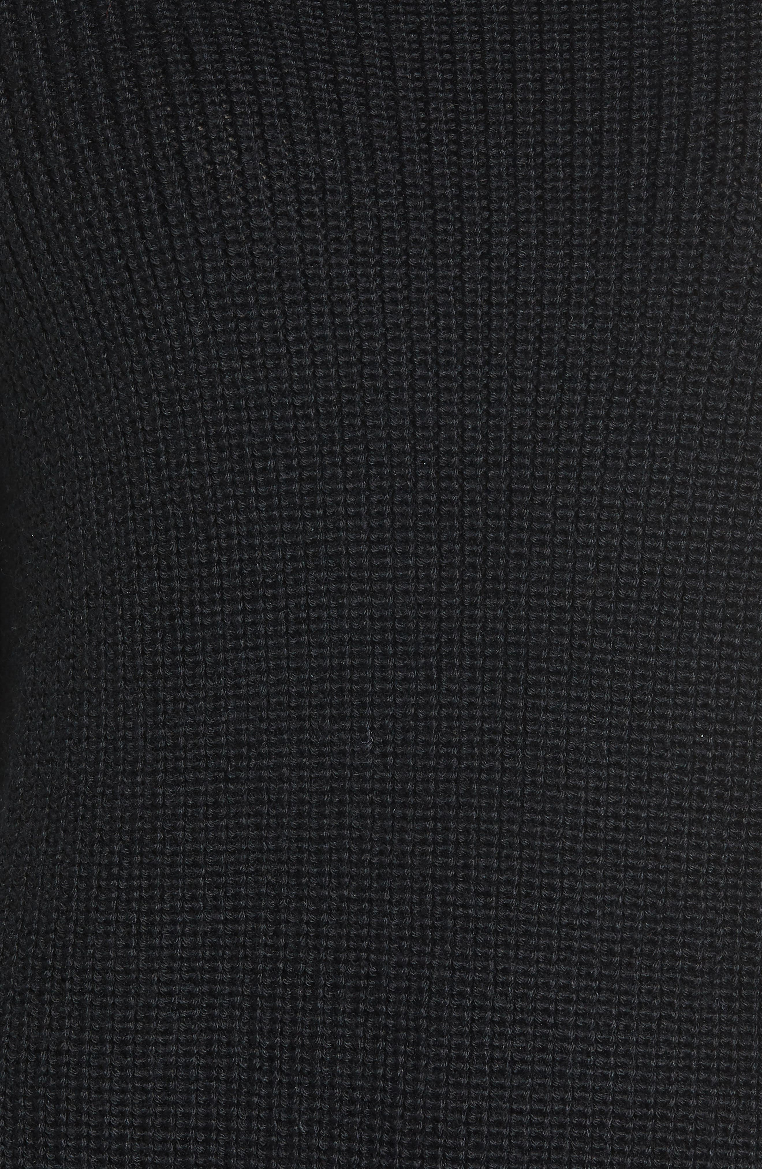 Gracey Mock Neck Sweater,                             Alternate thumbnail 5, color,                             001
