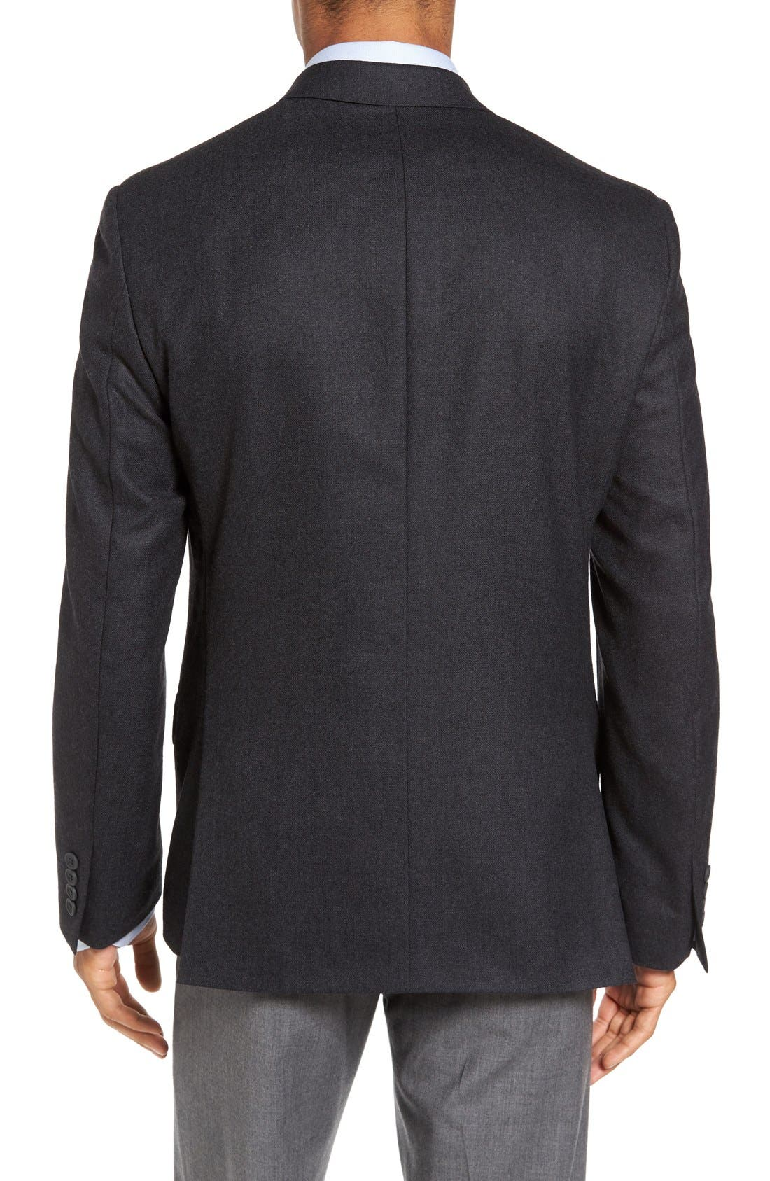 Classic Fit Wool & Cashmere Blazer,                             Alternate thumbnail 4, color,