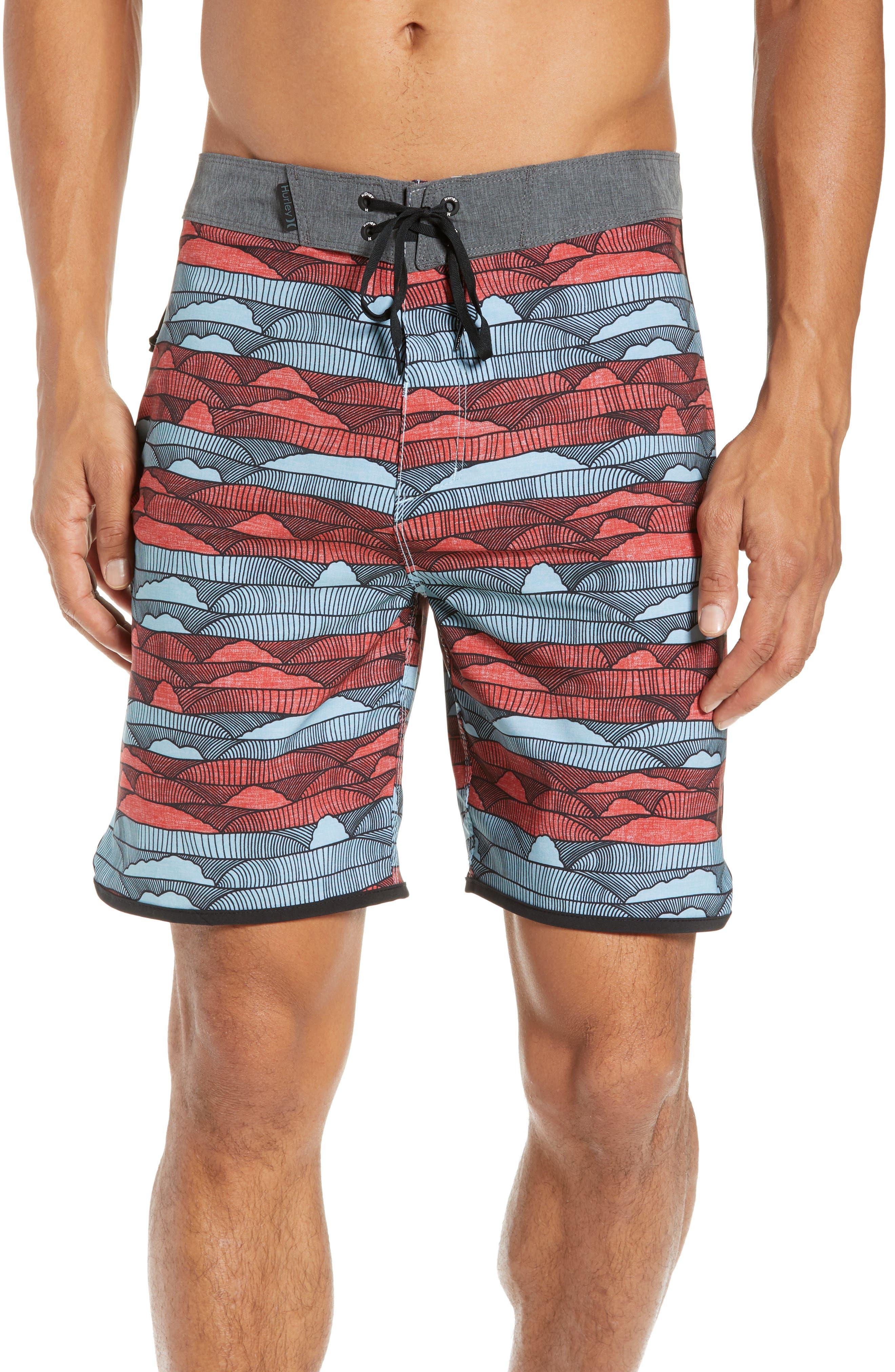 Phantom Lines Board Shorts,                         Main,                         color, AURORA GREEN