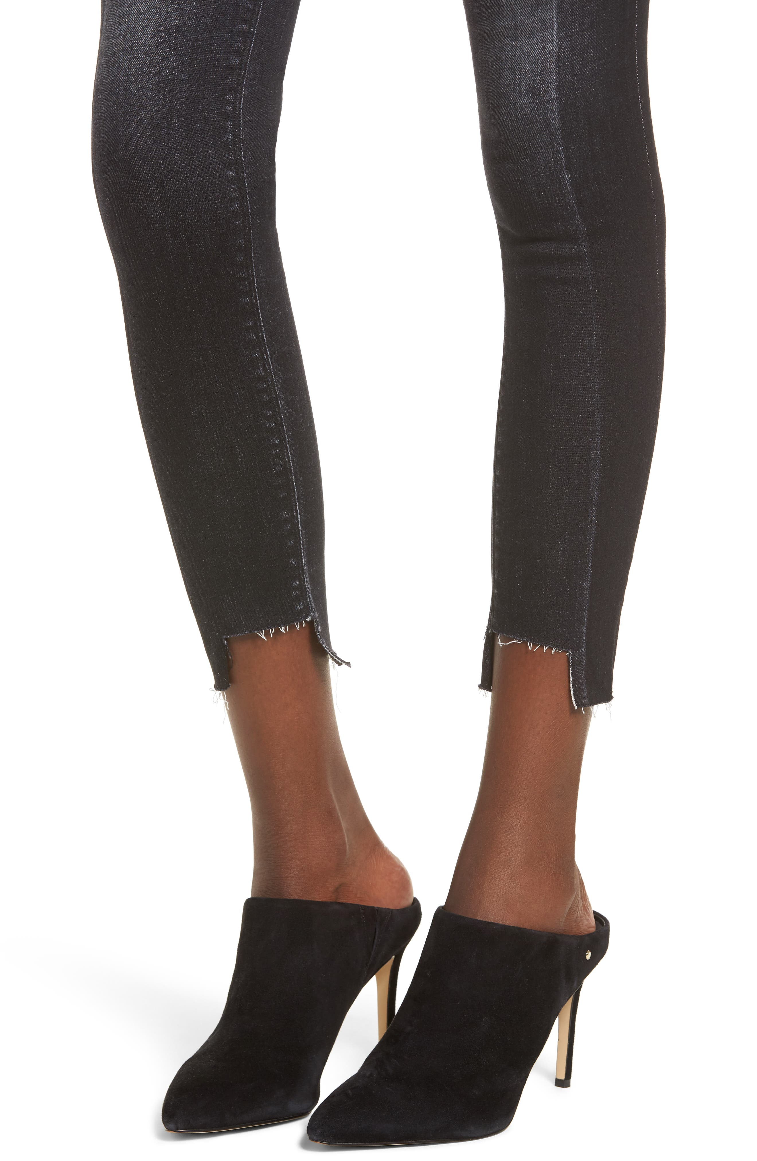 Nico Step Hem Crop Super Skinny Jeans,                             Alternate thumbnail 4, color,                             020