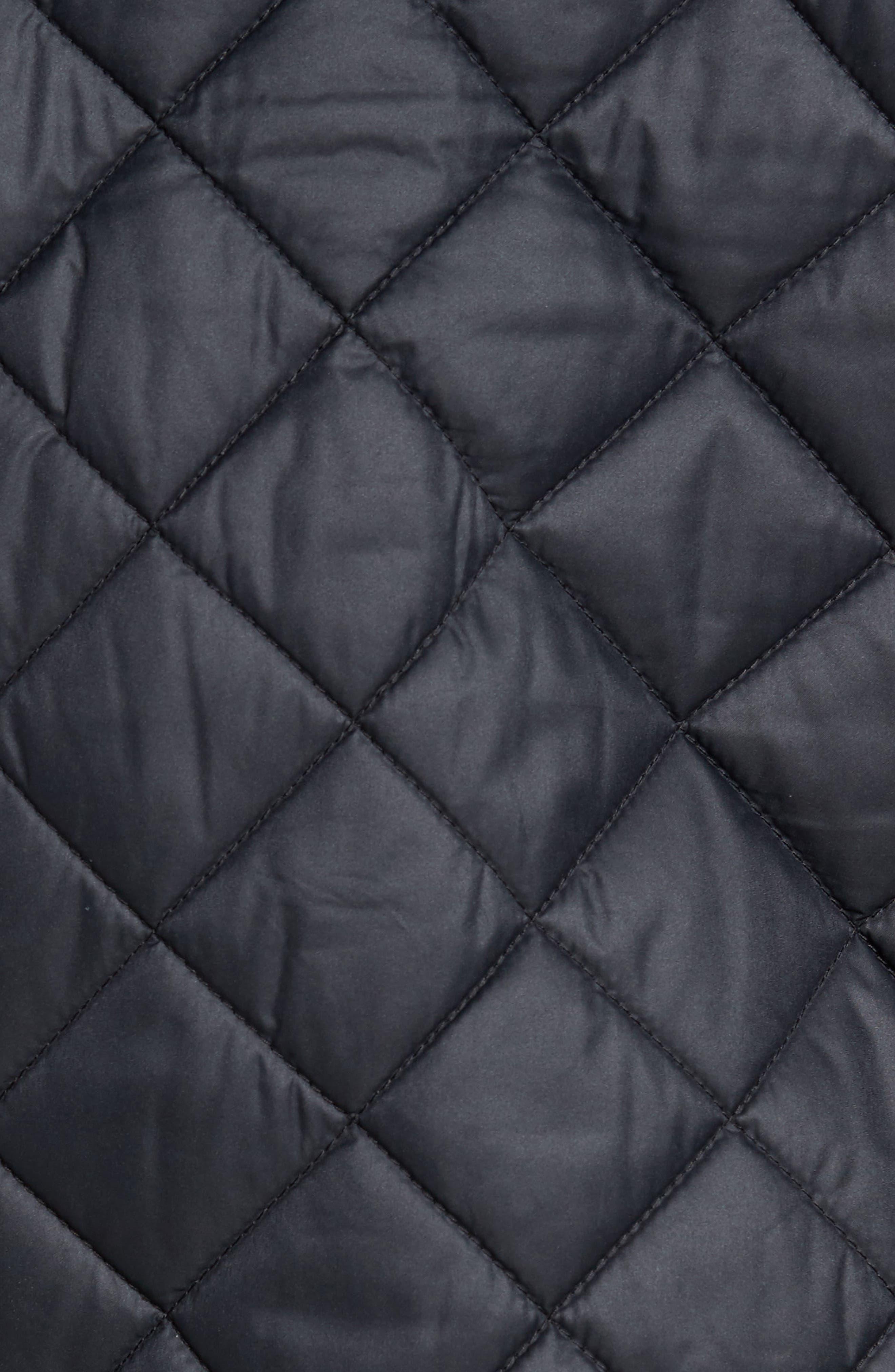 Essex Quilted Vest,                             Alternate thumbnail 6, color,                             BLACK / BLACK
