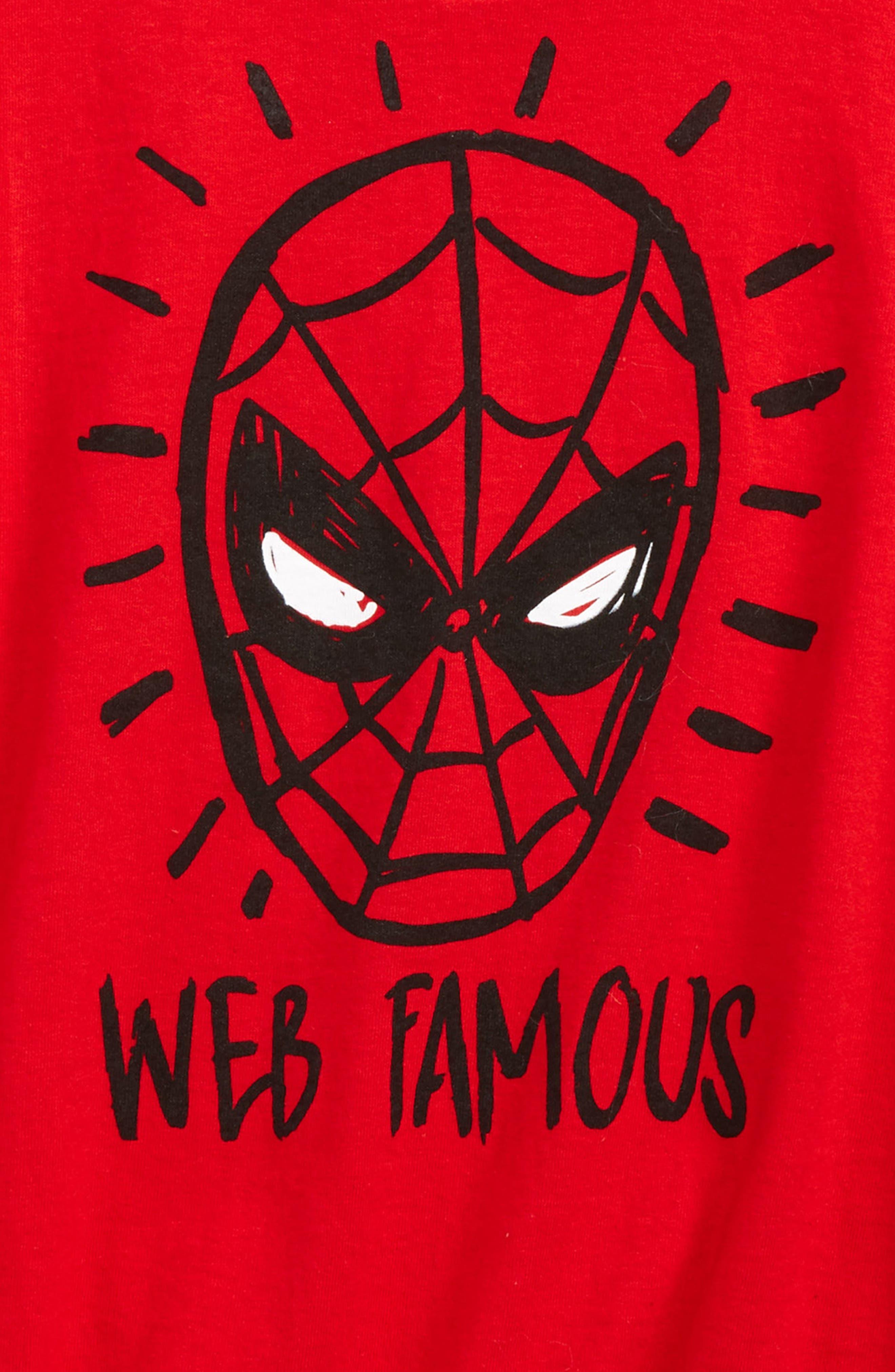 Spider-Man - Web Famous T-Shirt,                             Alternate thumbnail 2, color,                             615
