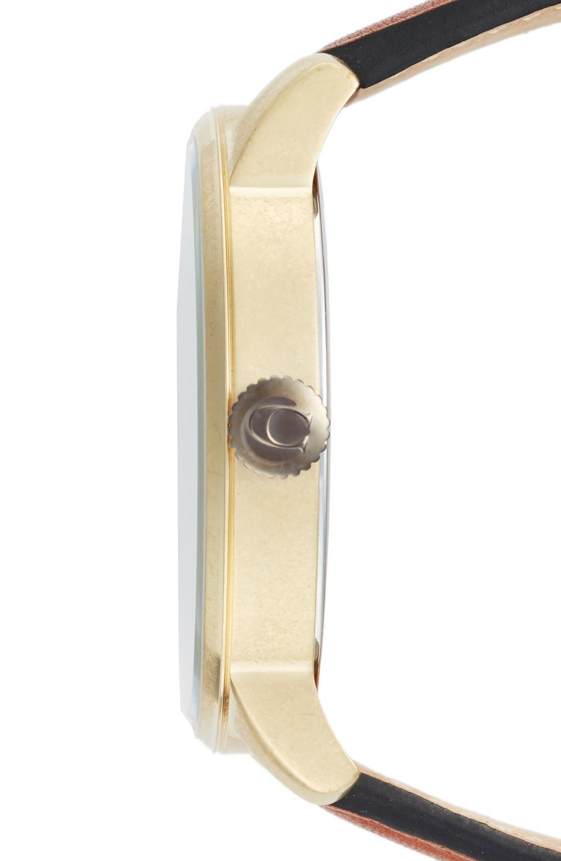 'Bleeker' Leather Strap Watch, 46mm,                             Alternate thumbnail 5, color,