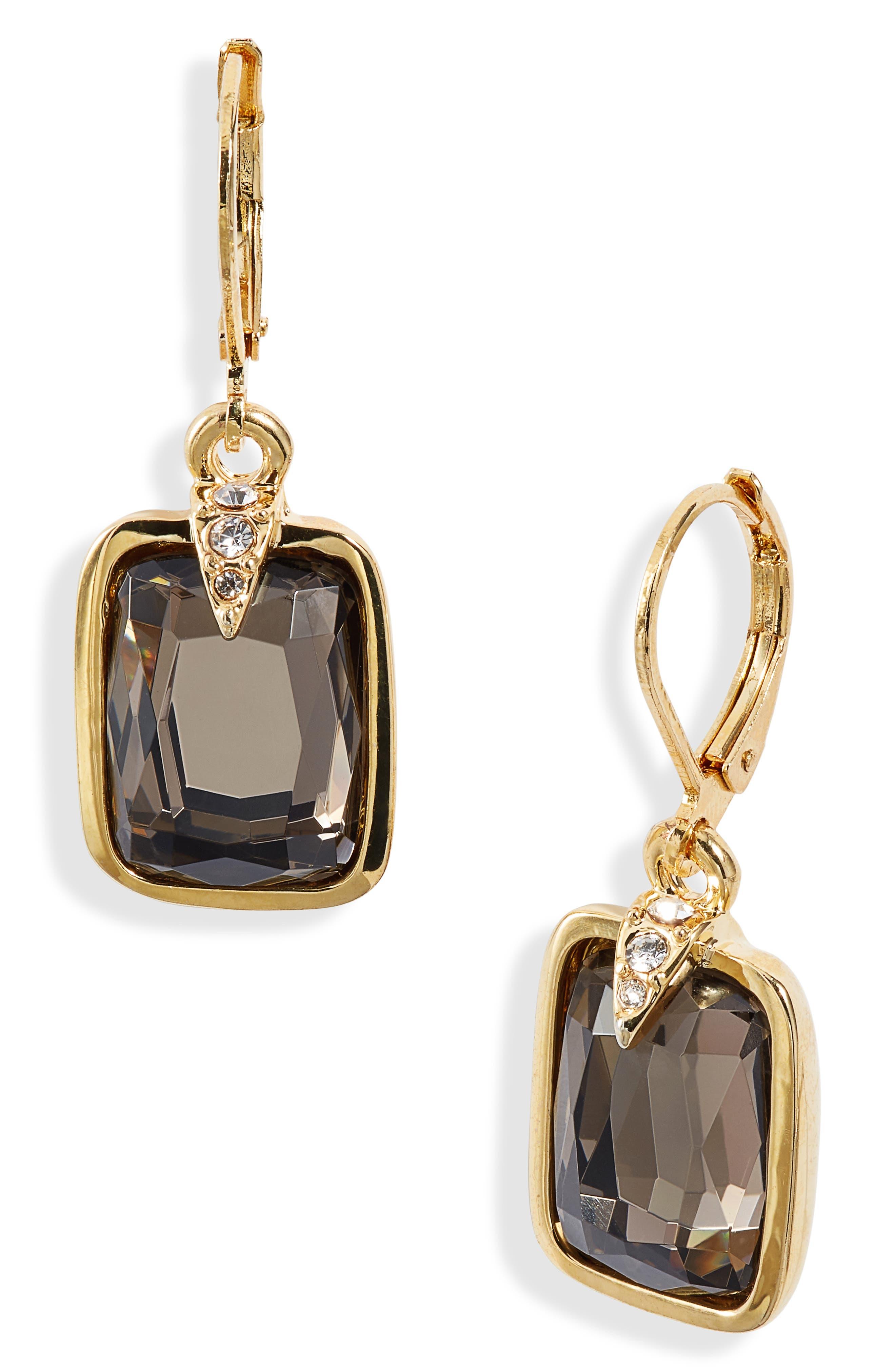Eurowire Drop Earrings, Main, color, GOLD/ GREY