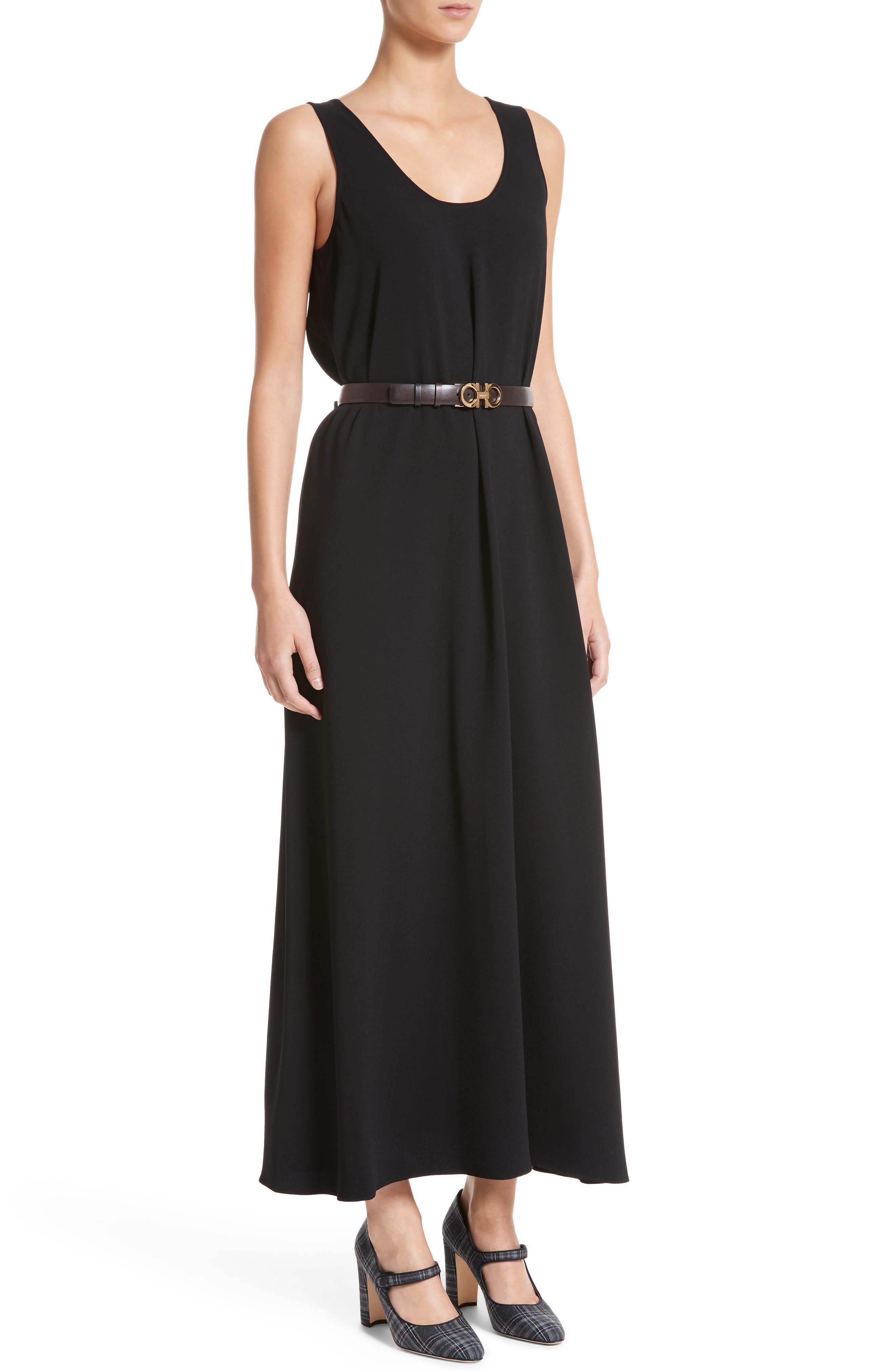 Sleeveless Maxi Dress,                             Alternate thumbnail 4, color,                             001