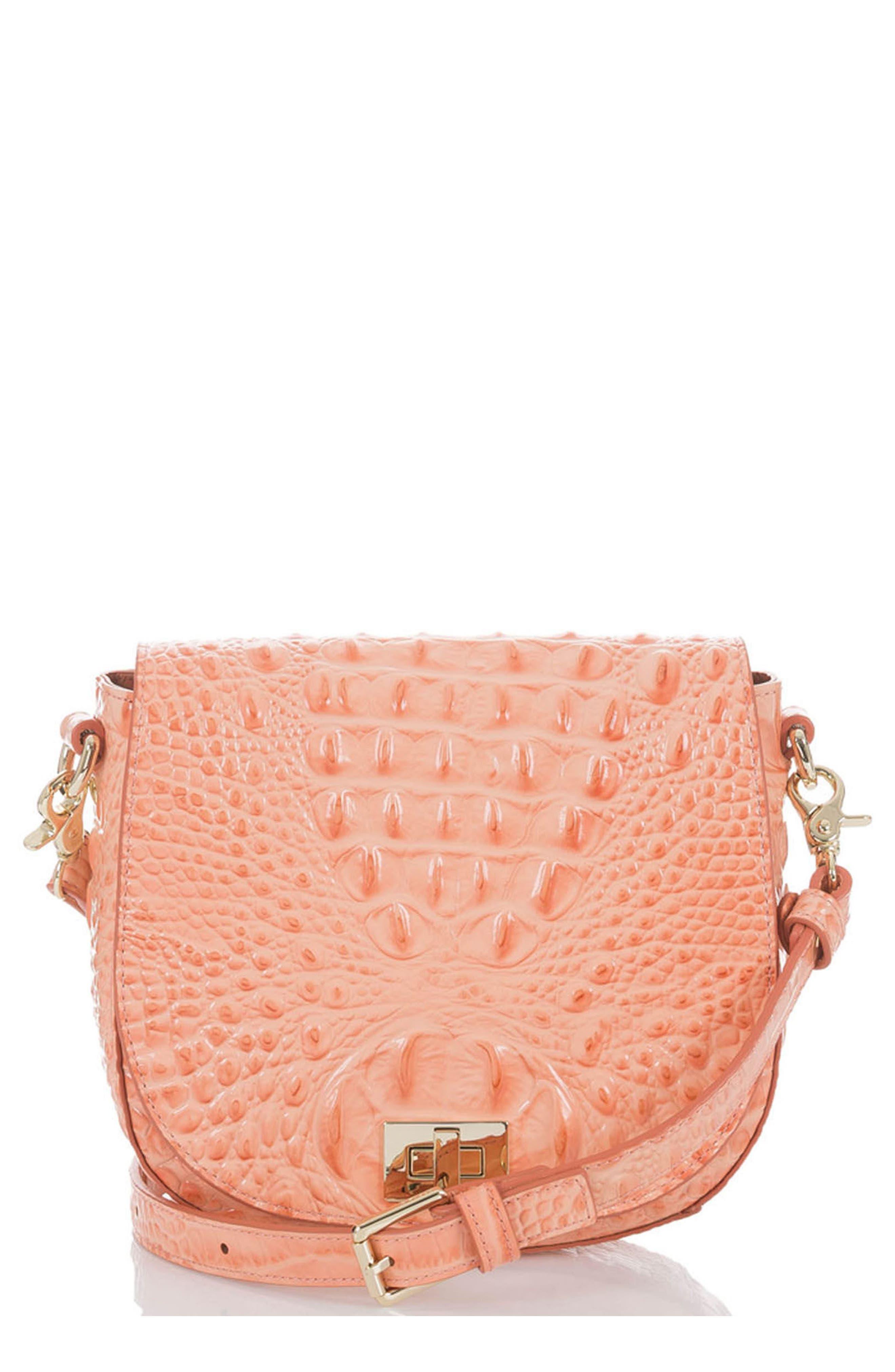 Mini Sonny Leather Crossbody Bag,                             Main thumbnail 1, color,                             CANTALOUPE