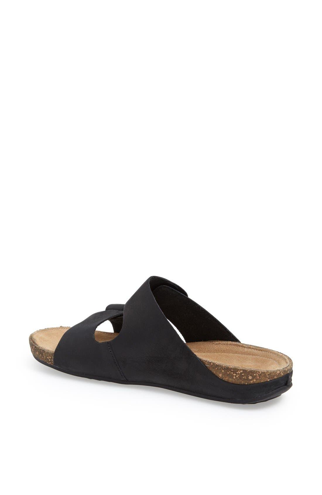 'Perri Coast' Leather Thong Sandal,                             Alternate thumbnail 2, color,                             005