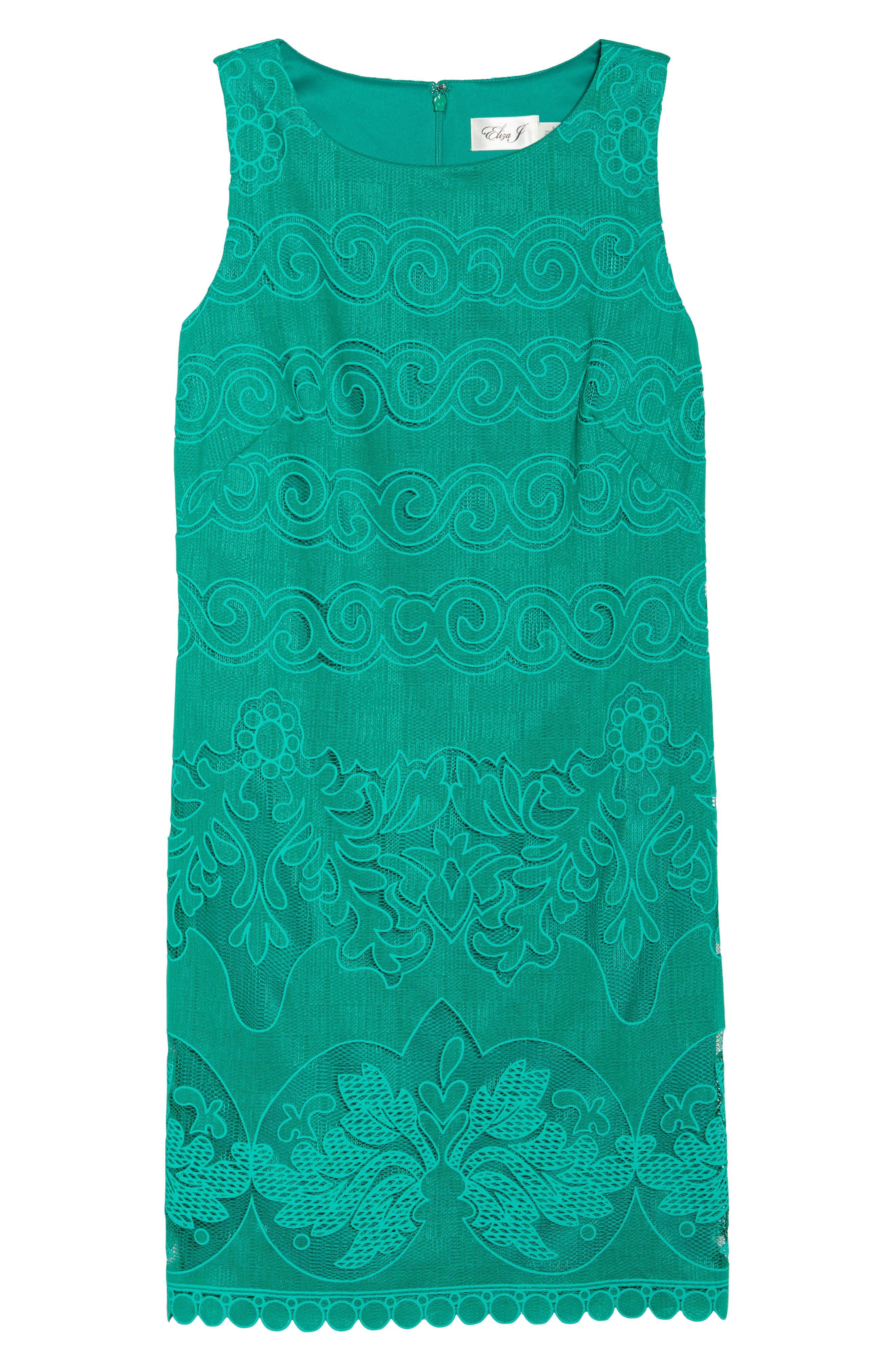 A-Line Dress,                             Alternate thumbnail 7, color,                             GREEN