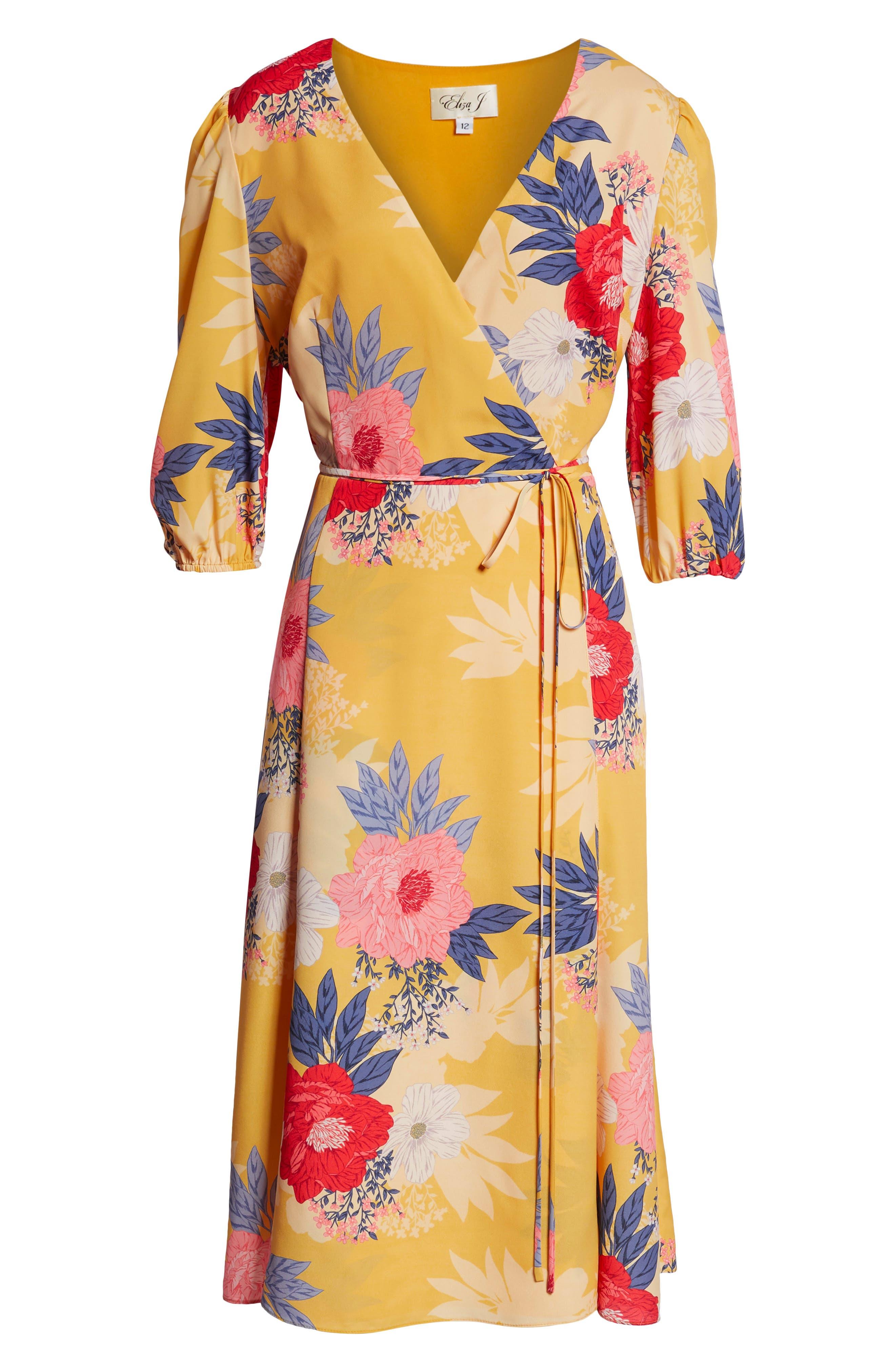 Faux Wrap Midi Dress,                             Alternate thumbnail 8, color,                             720