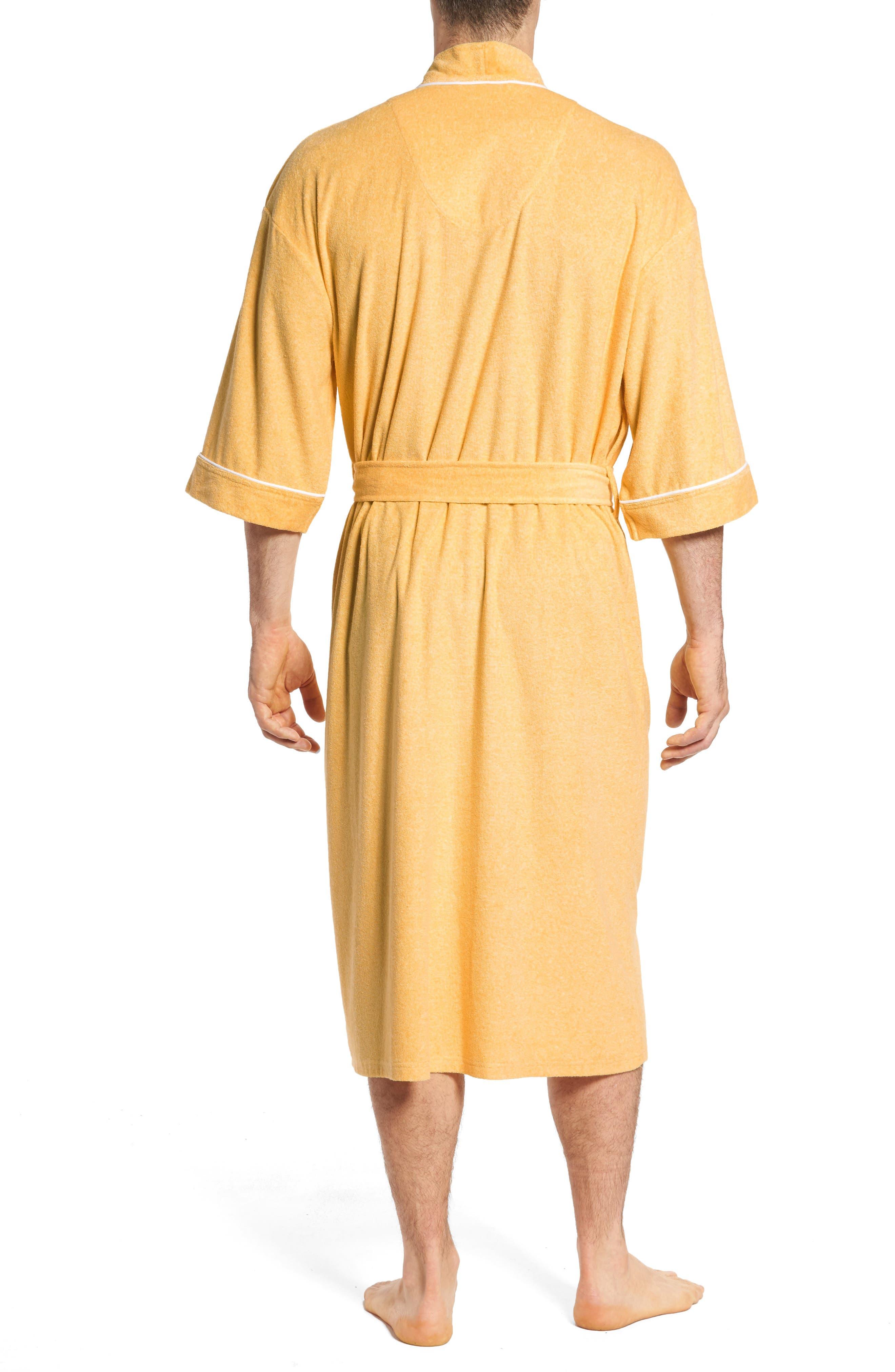Kimono Cotton Blend Robe,                             Alternate thumbnail 3, color,
