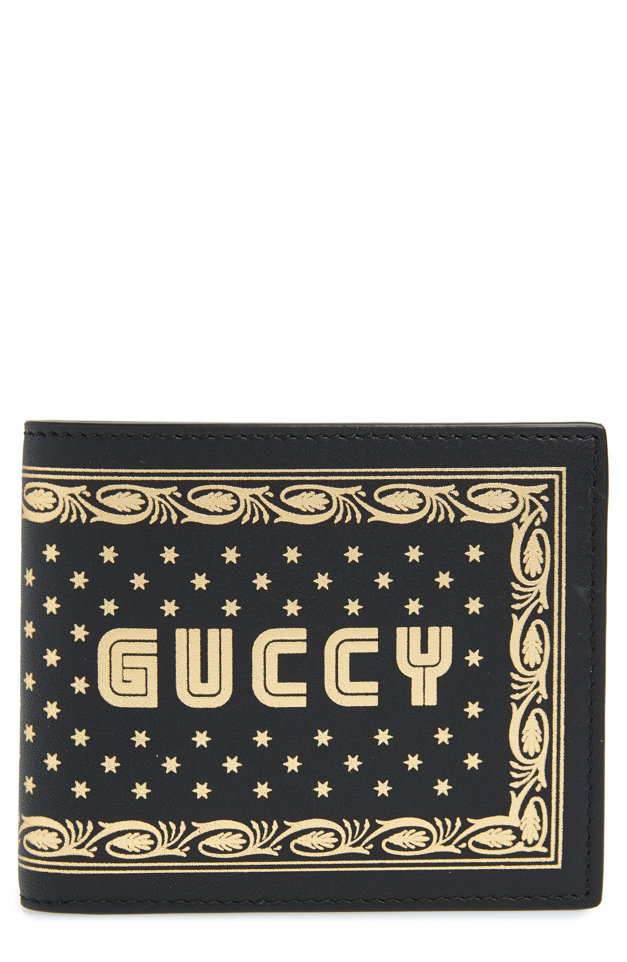 Print Leather Wallet,                         Main,                         color, 001