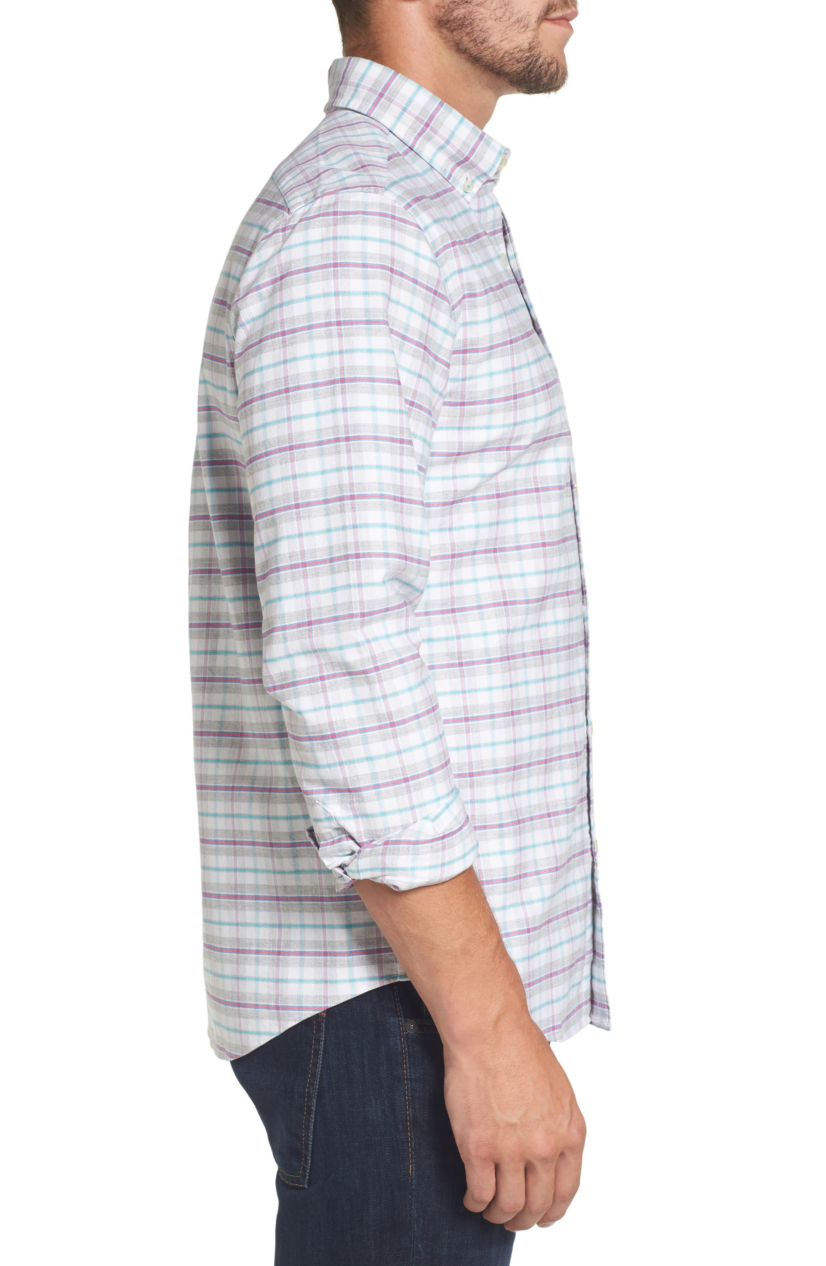 Lockwood Slim Fit Check Sport Shirt,                             Alternate thumbnail 3, color,                             678