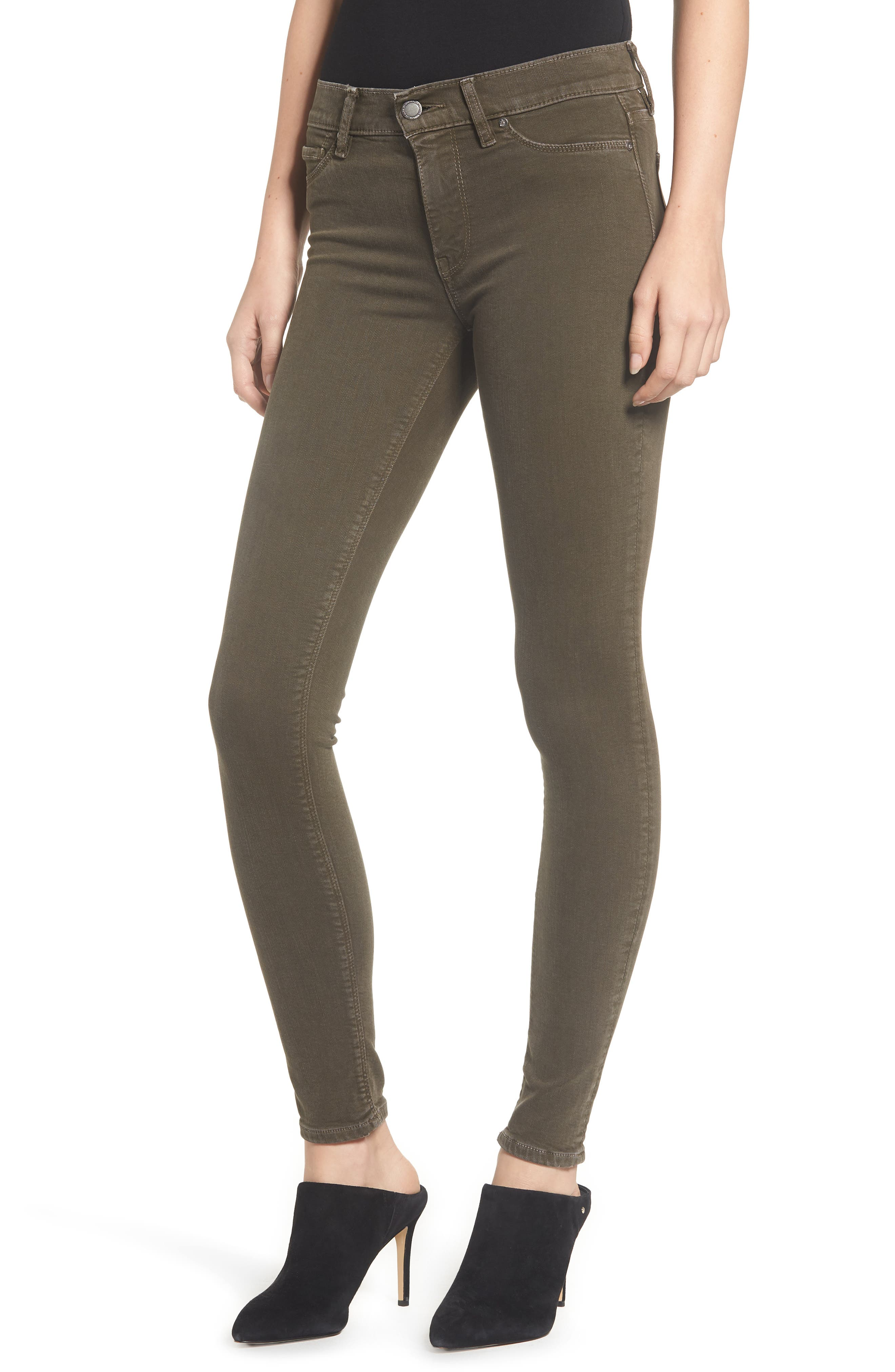 HudsonJeans Nico Super Skinny Jeans,                             Main thumbnail 1, color,                             DISTRESSED DARK FORESTER