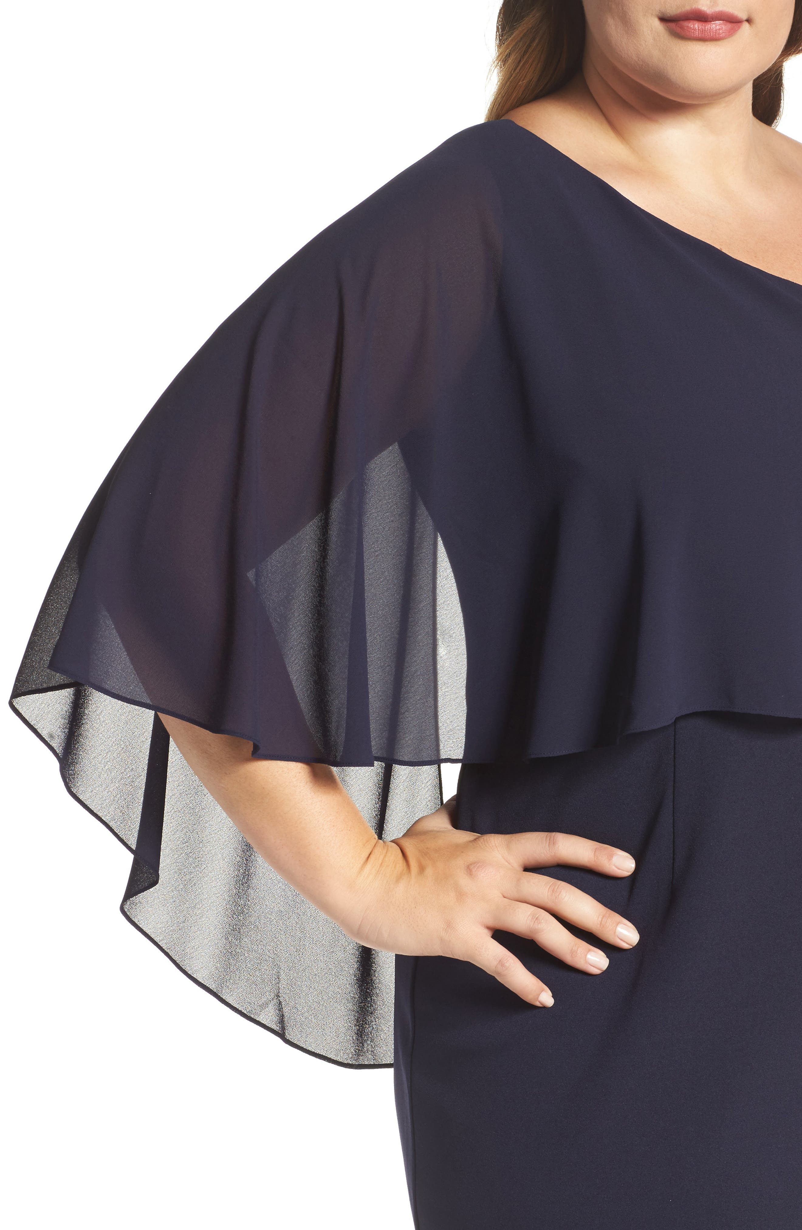 One-Shoulder Sheath Dress,                             Alternate thumbnail 4, color,                             410
