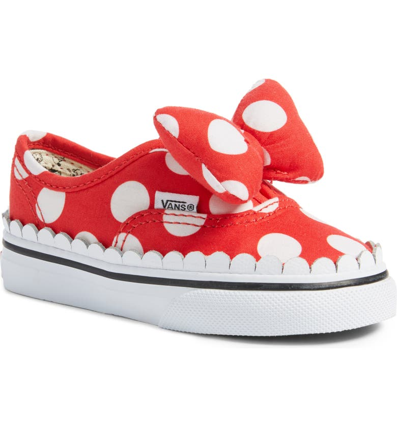 Vans x Disney Authentic Gore Minnie Mouse Bow Slip-On Sneaker (Baby ... 5309b6f63