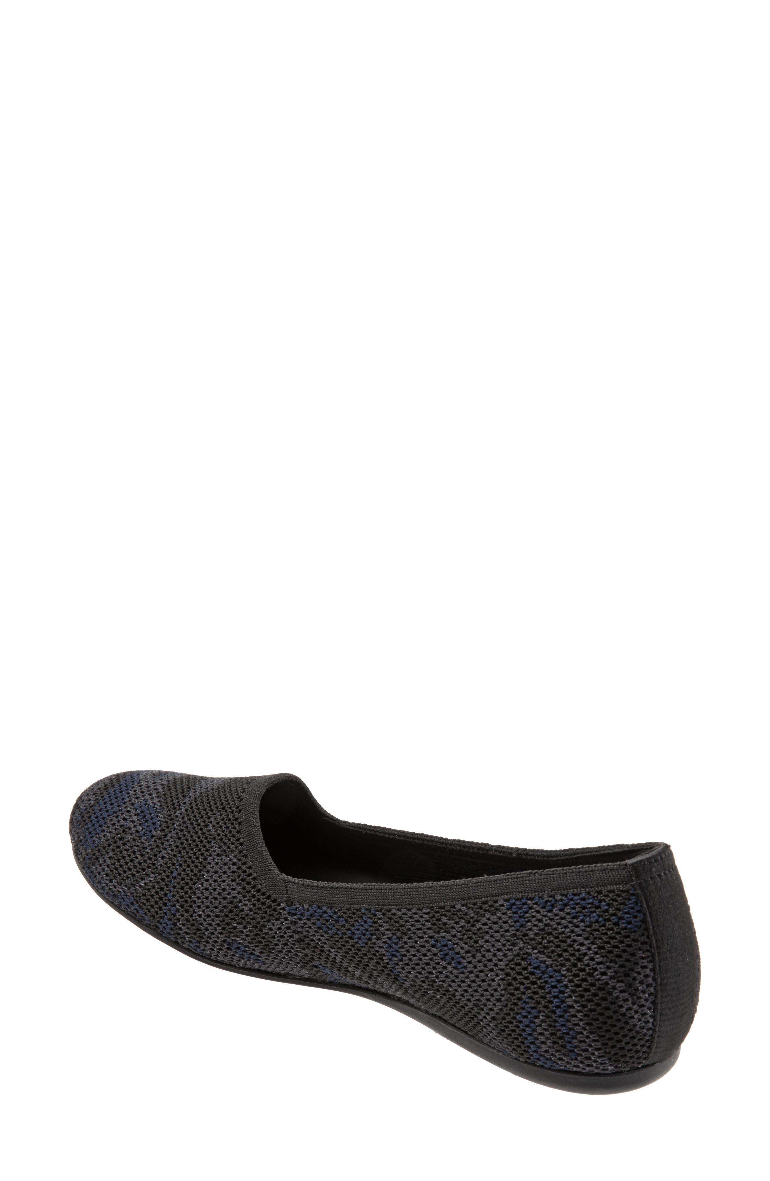 SOFTWALK<SUP>®</SUP>,                             Sicily Knit Flat,                             Alternate thumbnail 2, color,                             BLACK/ GREY FABRIC