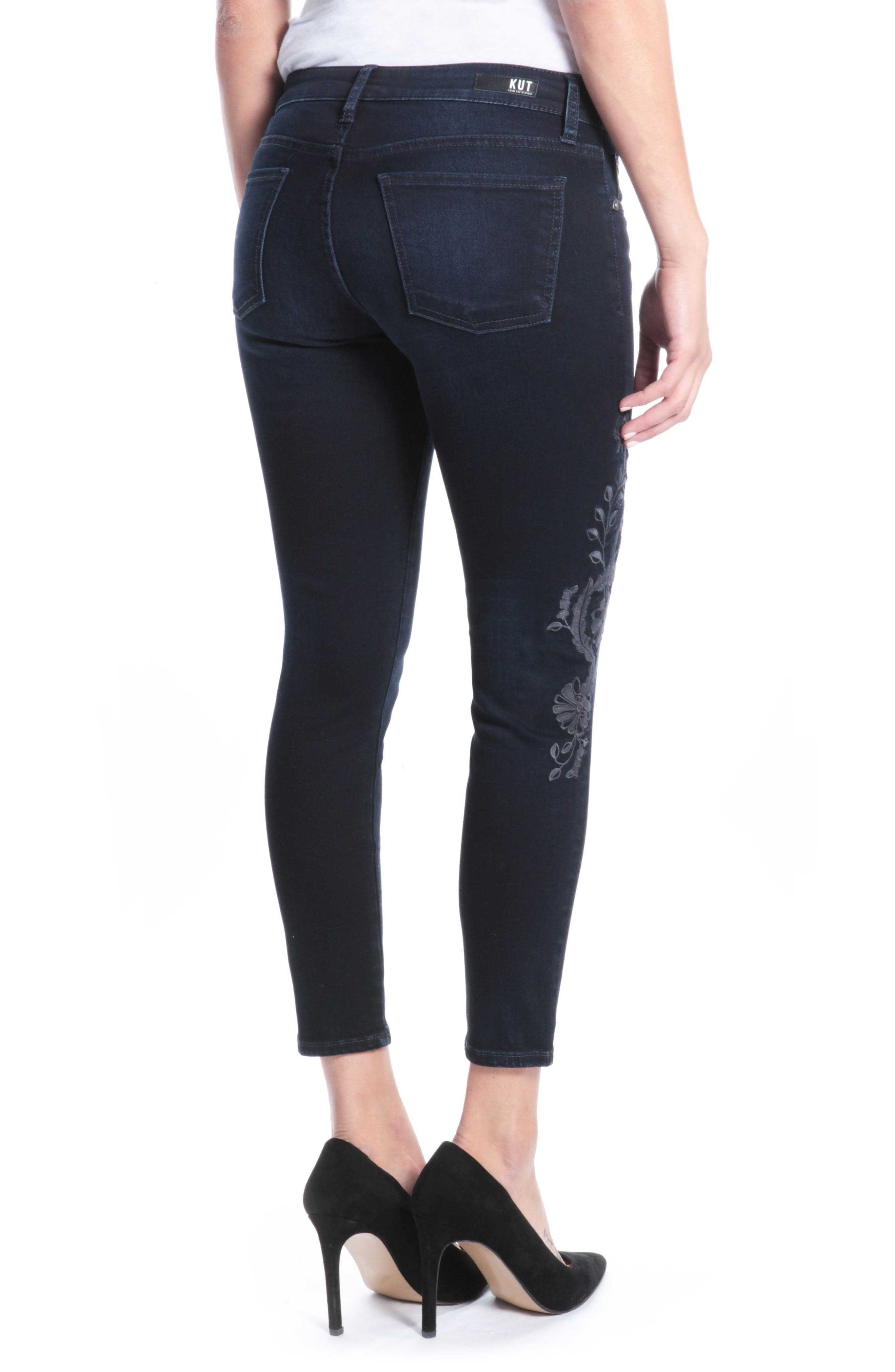 Donna Ankle Skinny Jeans,                             Alternate thumbnail 2, color,