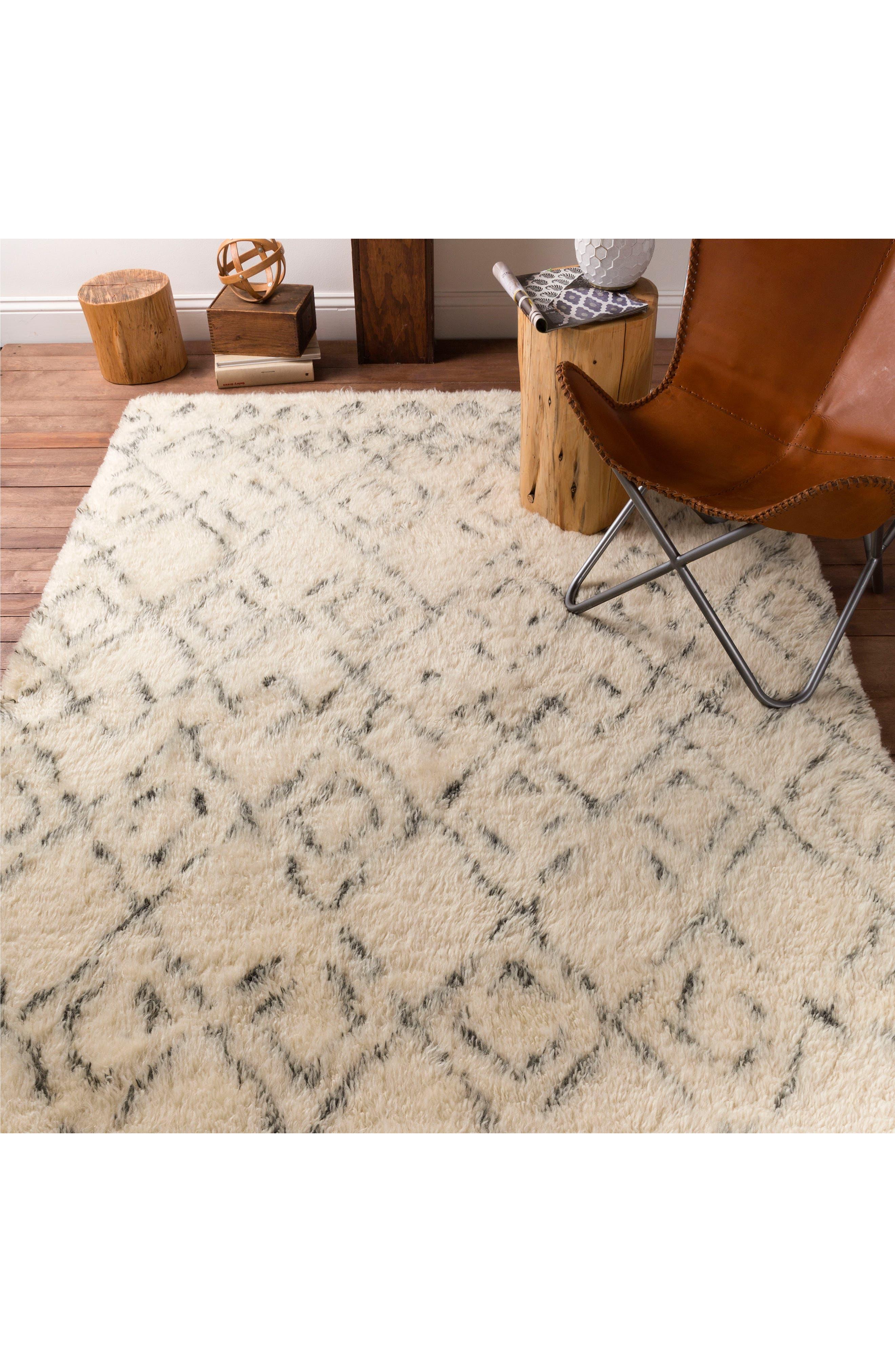 'Tasman' New Zealand Wool Rug,                             Alternate thumbnail 2, color,                             IVORY/ CHARCOAL