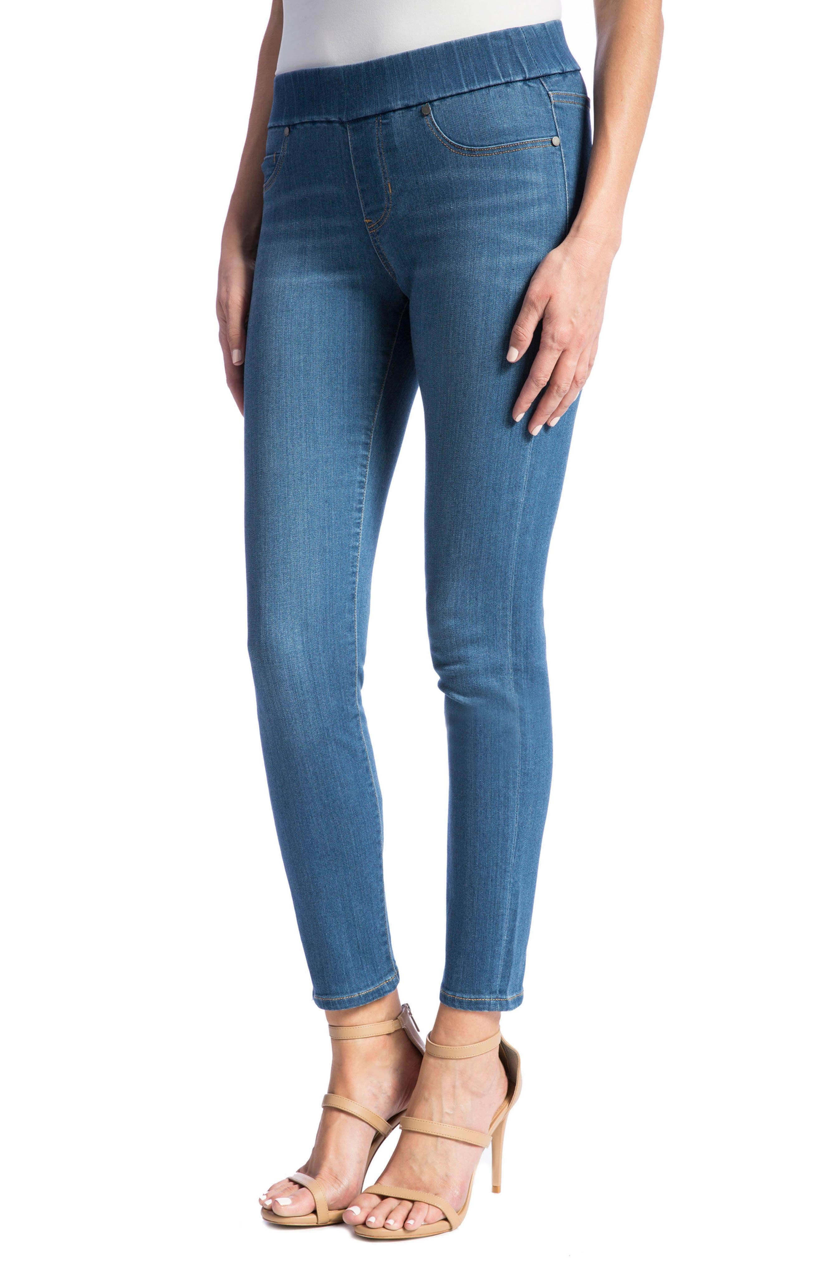 LIVERPOOL,                             Jeans Company High Rise Stretch Denim Ankle Leggings,                             Alternate thumbnail 3, color,                             CORONADO MID