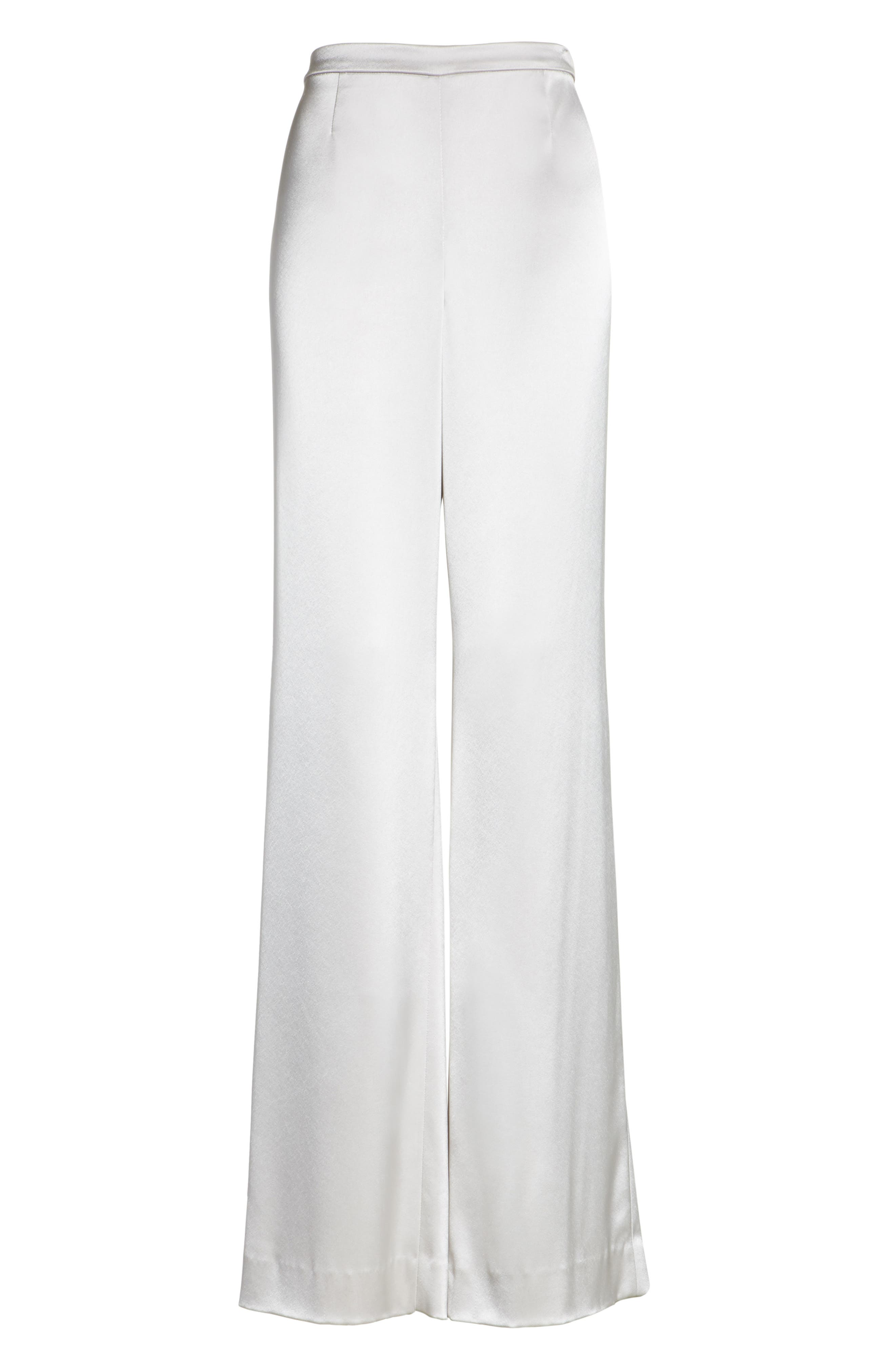 Liquid Satin Pants,                             Alternate thumbnail 6, color,                             PLATINUM