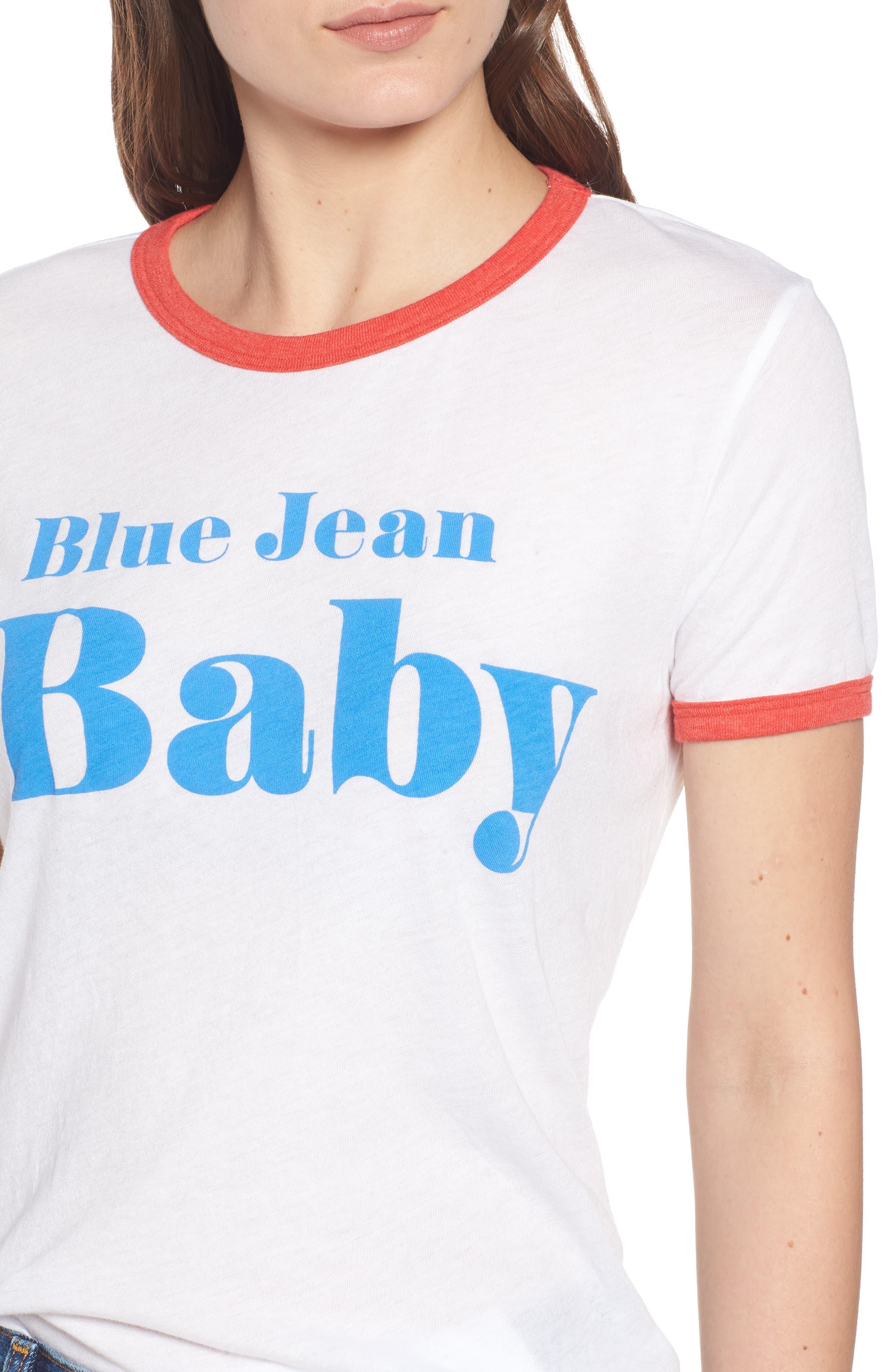 Blue Jean Baby Ringer Tee,                             Alternate thumbnail 4, color,                             100