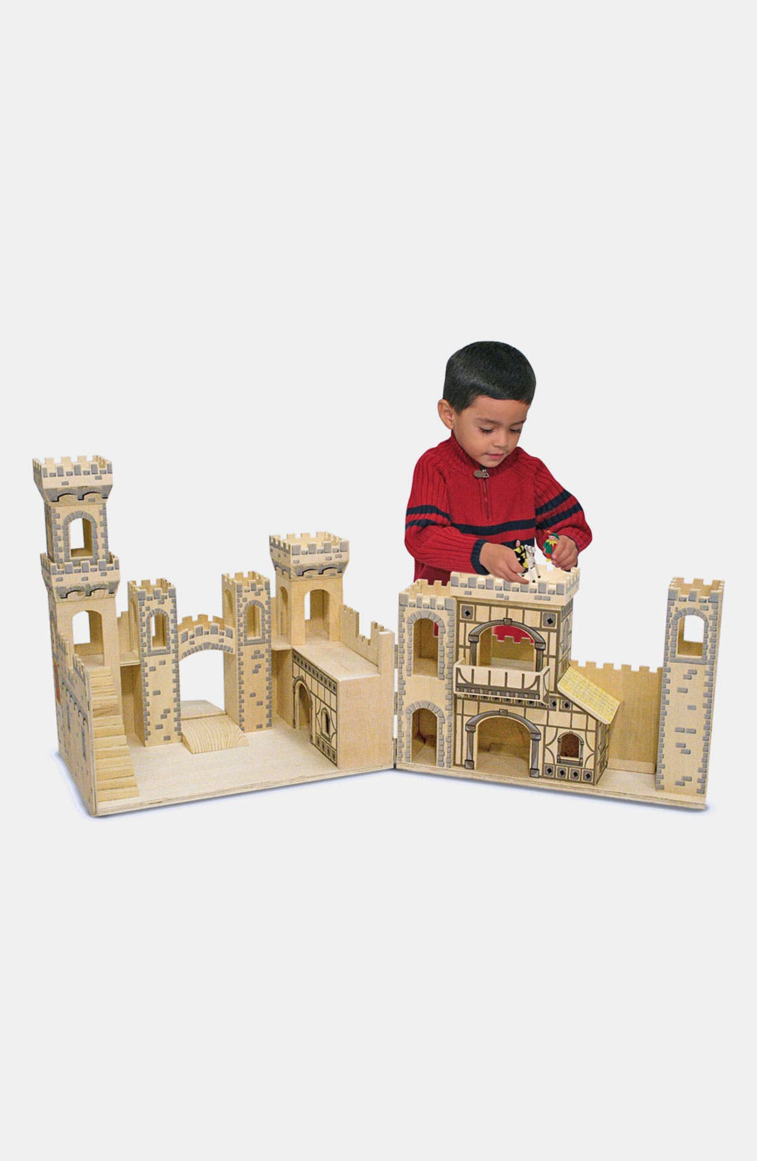 Toddler Melissa  Doug Wood Play Castle (Online Only)