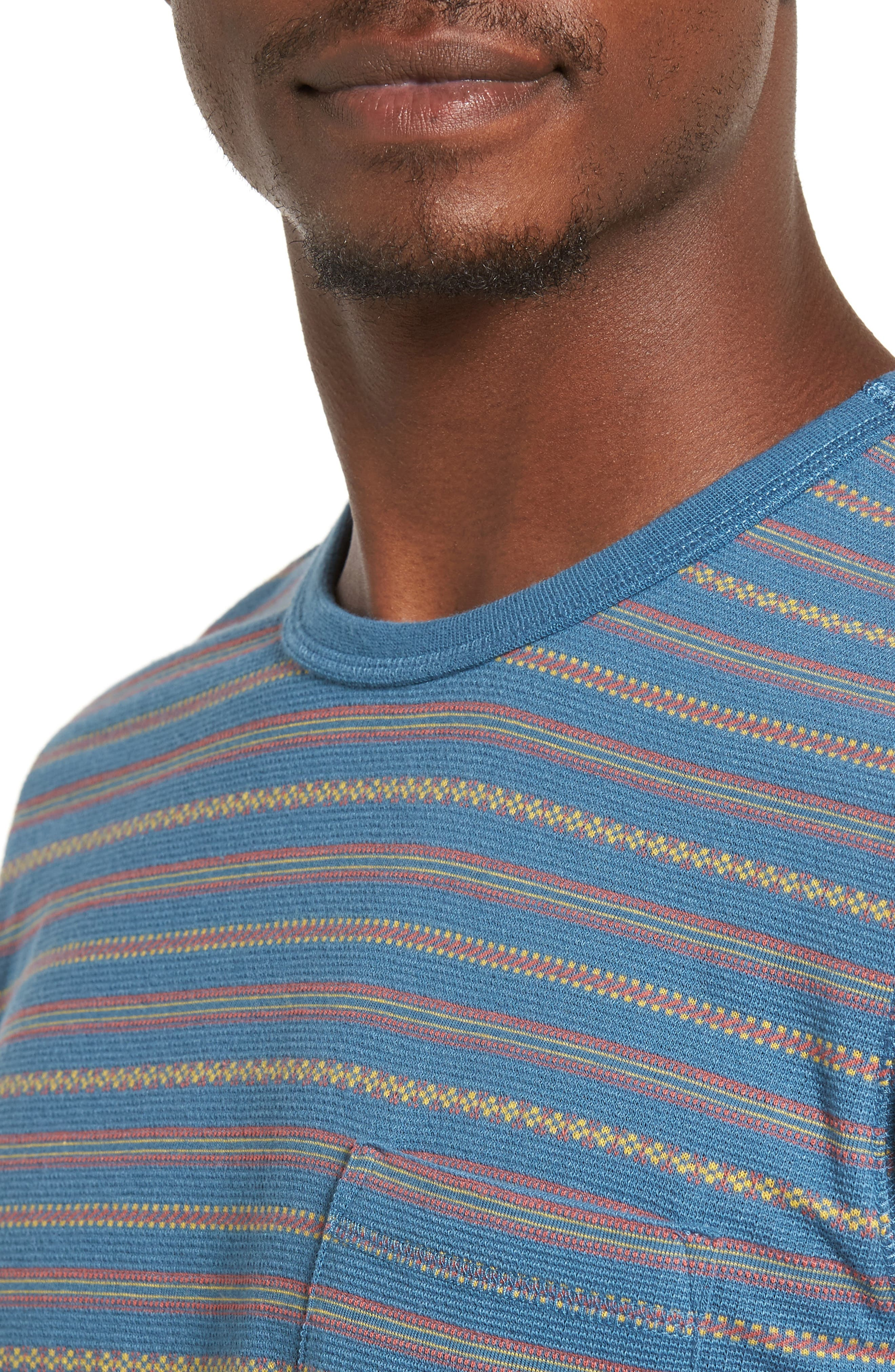 Jacquard Stripe Pocket T-Shirt,                             Alternate thumbnail 4, color,                             420