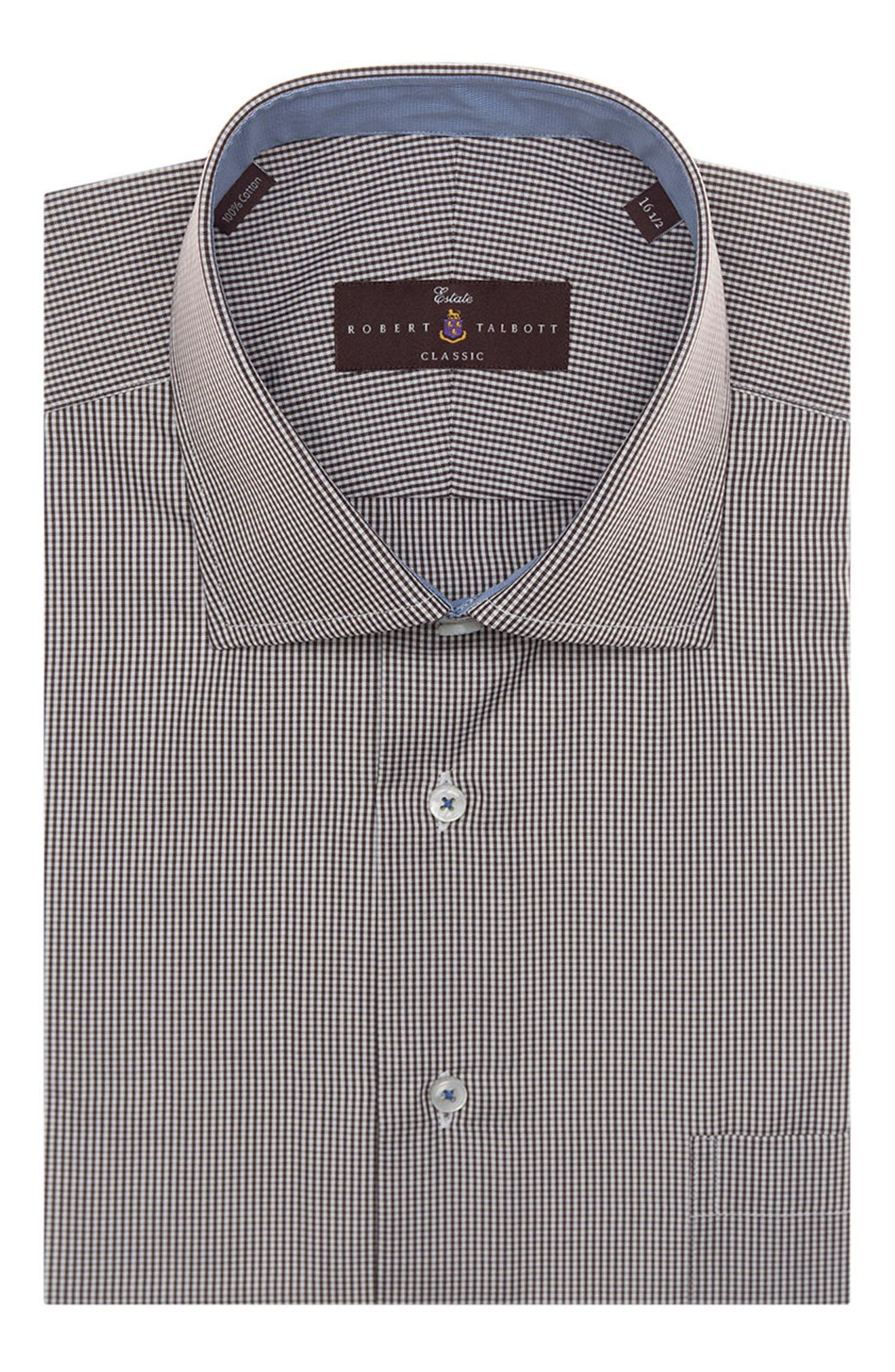 Tailored Fit Check Dress Shirt,                         Main,                         color, 201