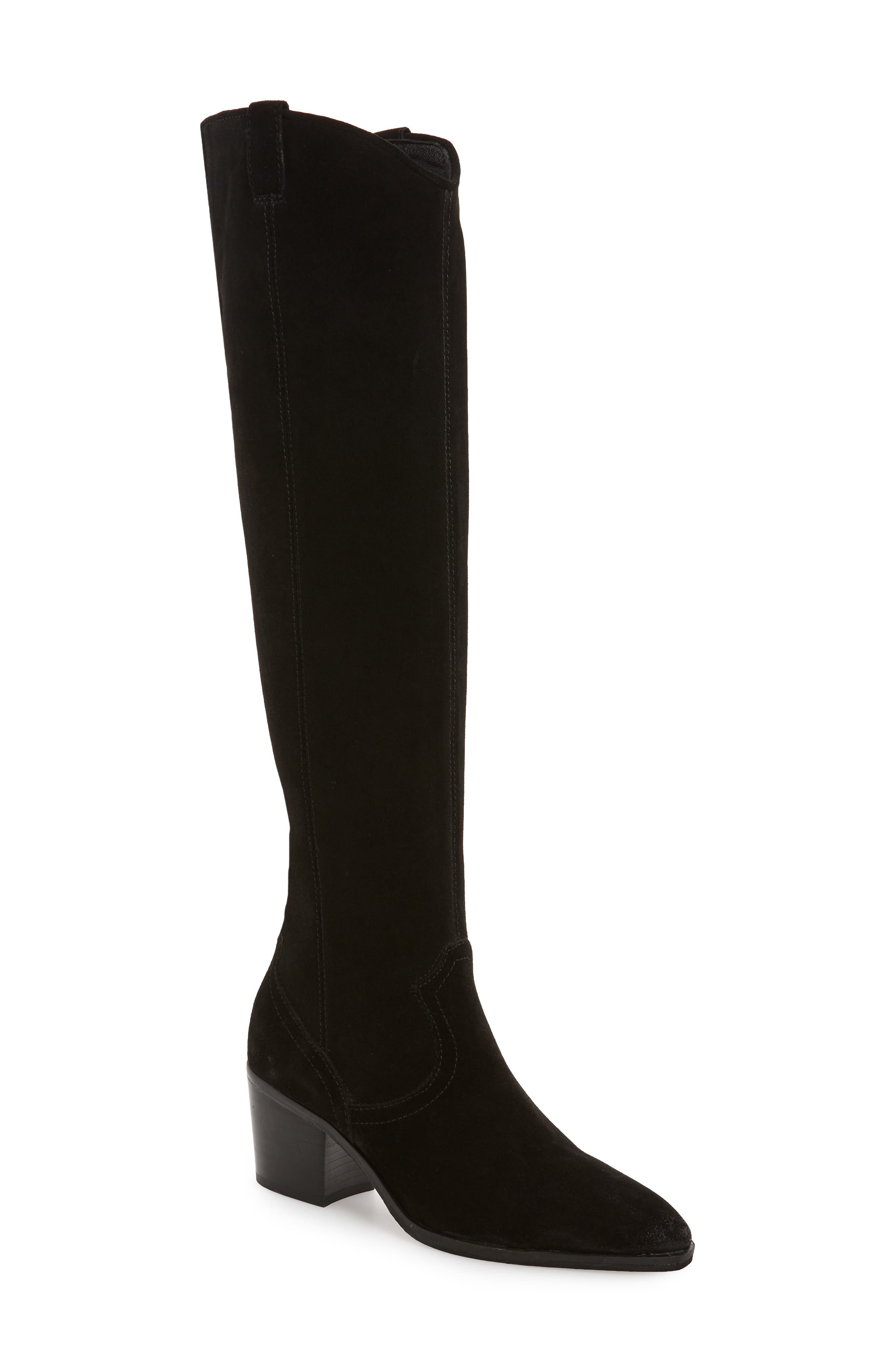 Delano Over the Knee Boot,                             Main thumbnail 1, color,                             BLACK LEATHER