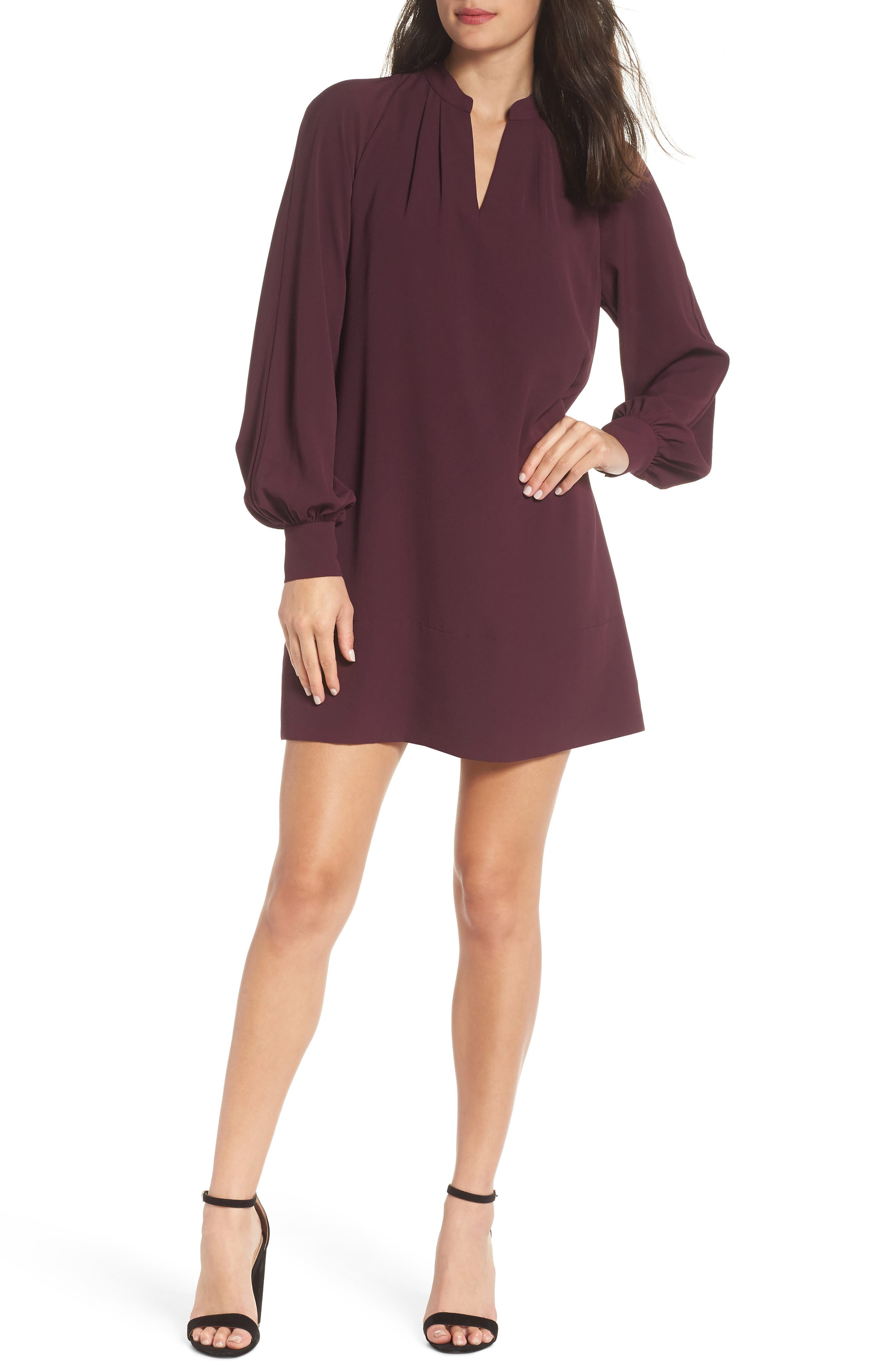 French Connection Mahi Crepe Tunic Dress, Purple