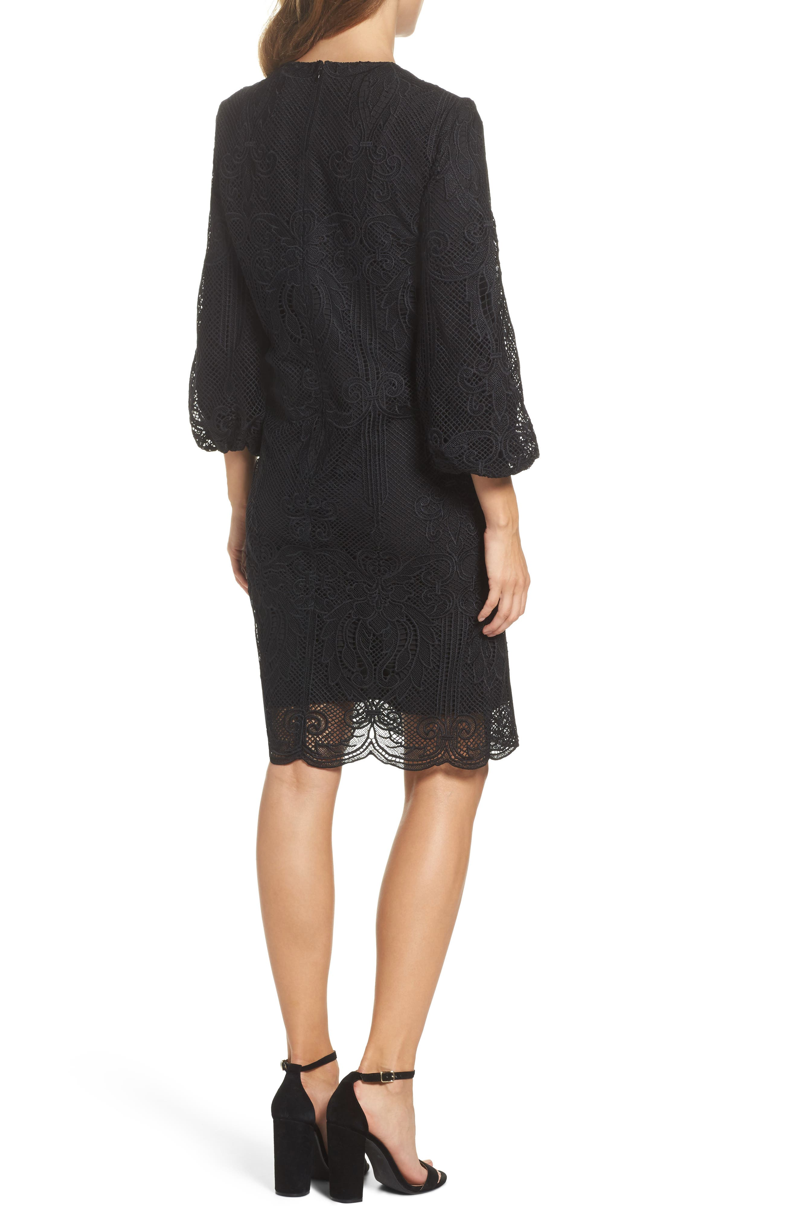 Kandace Lace Shift Dress,                             Alternate thumbnail 3, color,