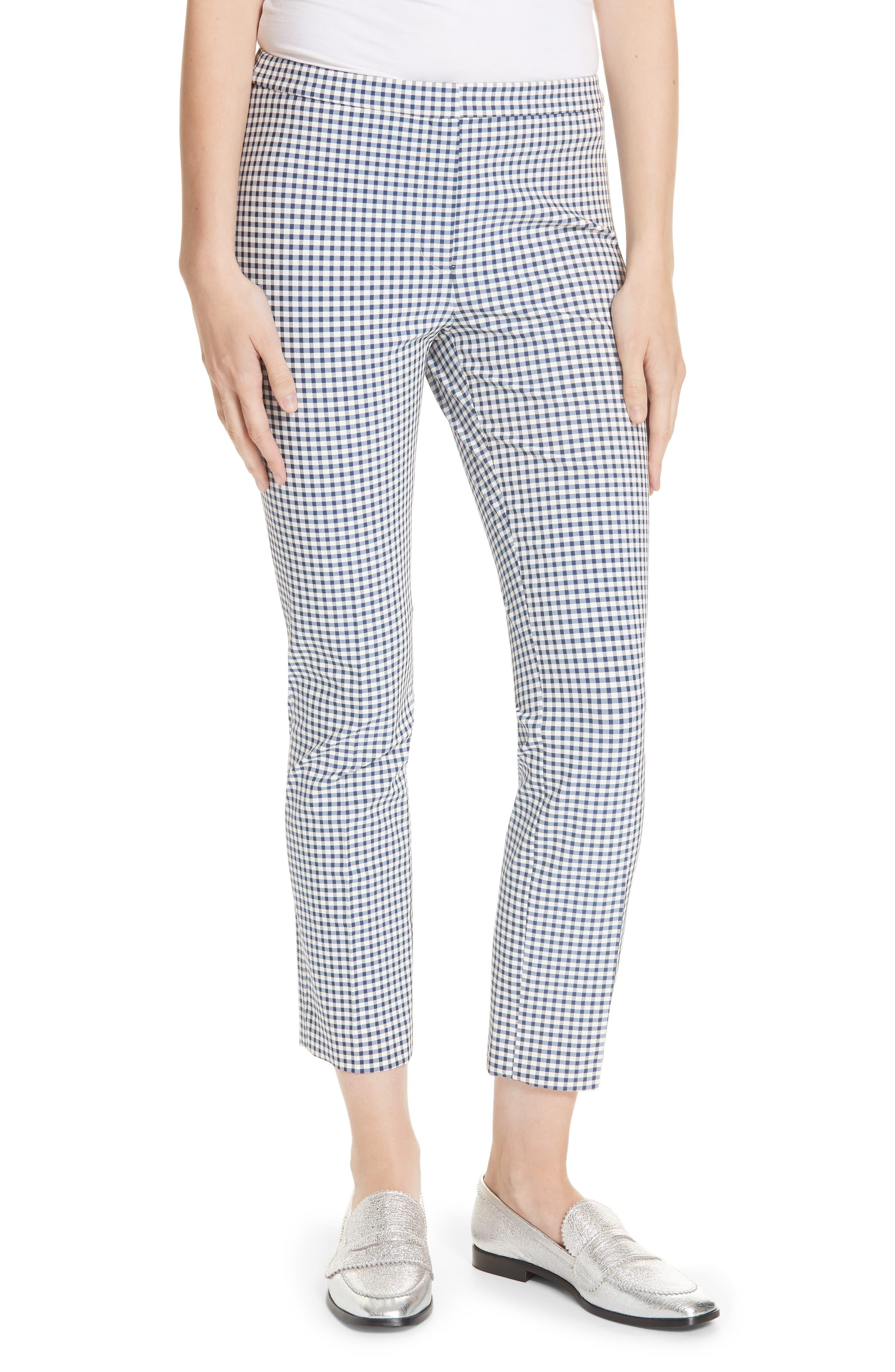 Gingham Check Skinny Pants,                         Main,                         color, BLUE MULTI