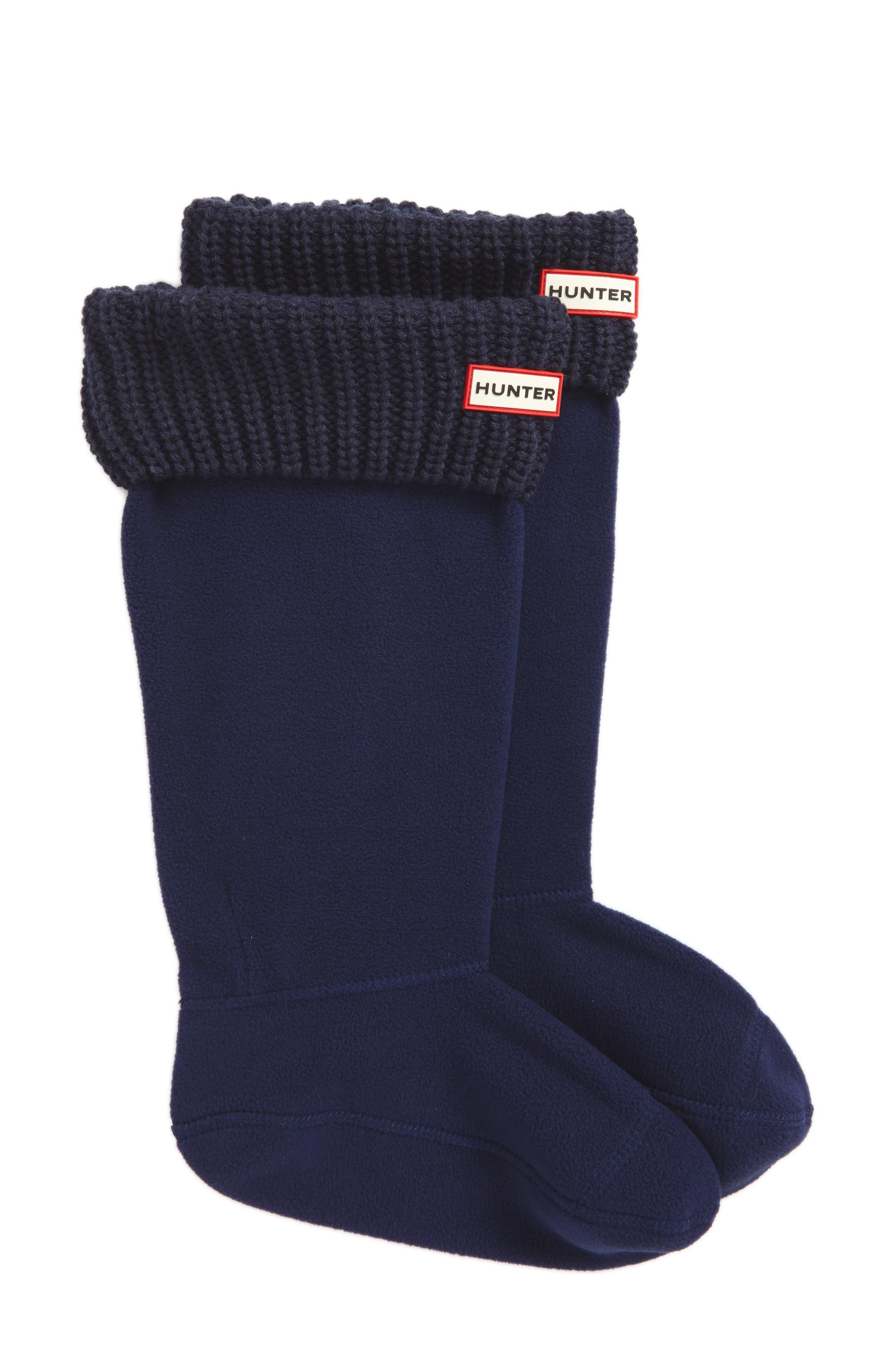 Tall Cardigan Knit Cuff Welly Boot Socks,                         Main,                         color, 400