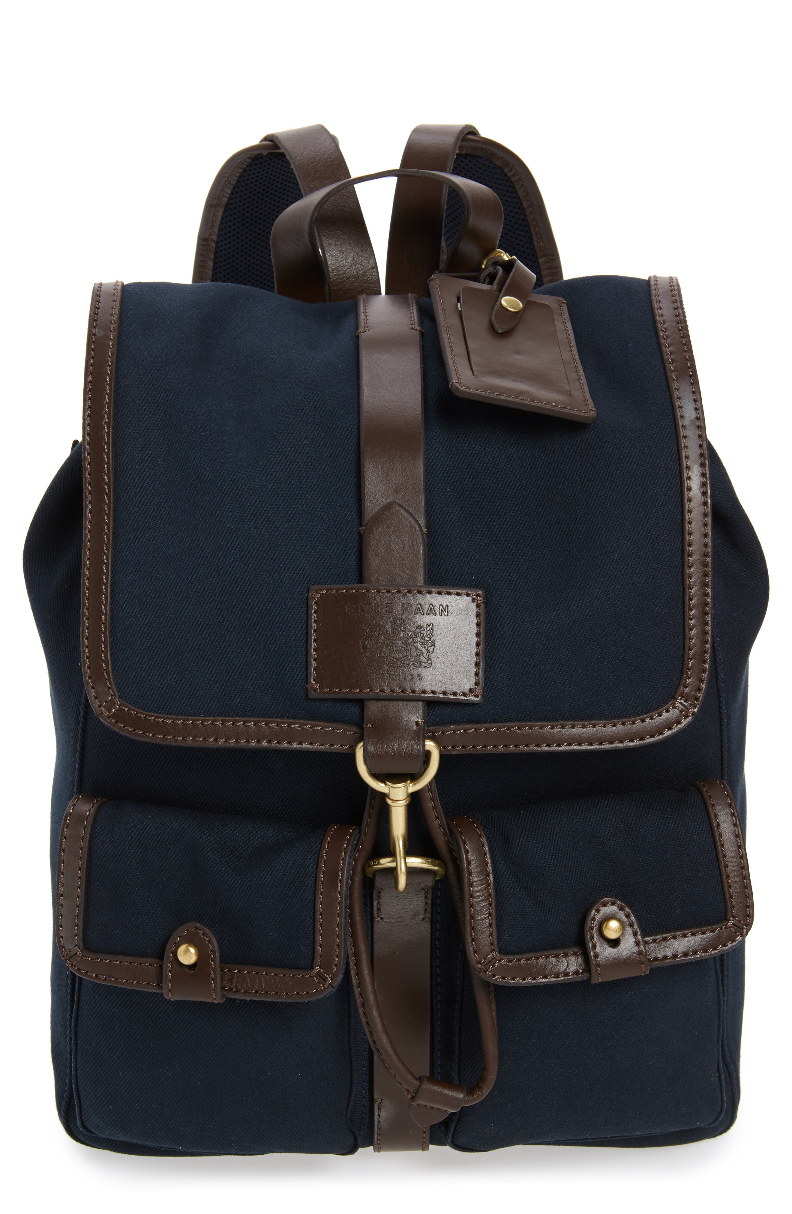 Canvas Backpack, Main, color, NAVY