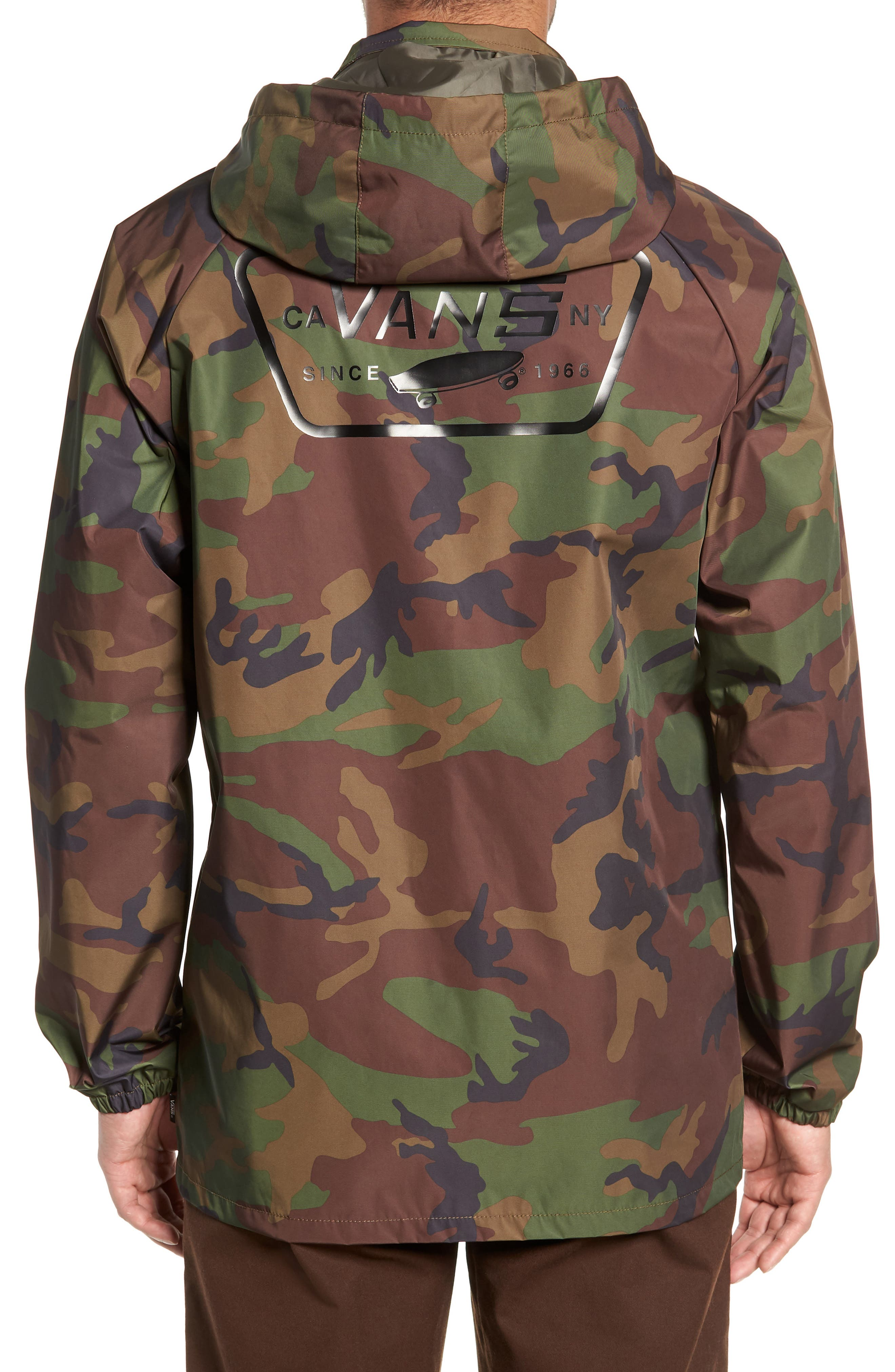 Torrey Water-Resistant Jacket with Detachable Hood,                             Alternate thumbnail 2, color,                             CAMO