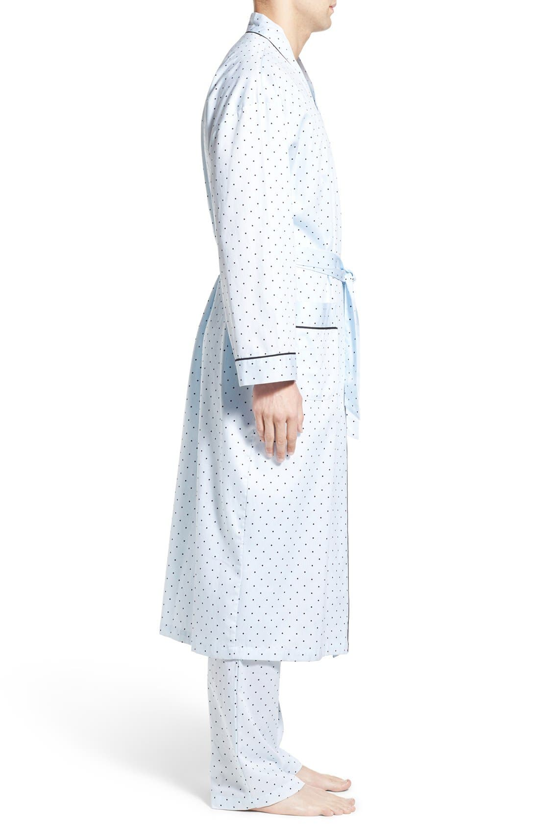 'Twilight Blue' Cotton Robe,                             Alternate thumbnail 3, color,                             400