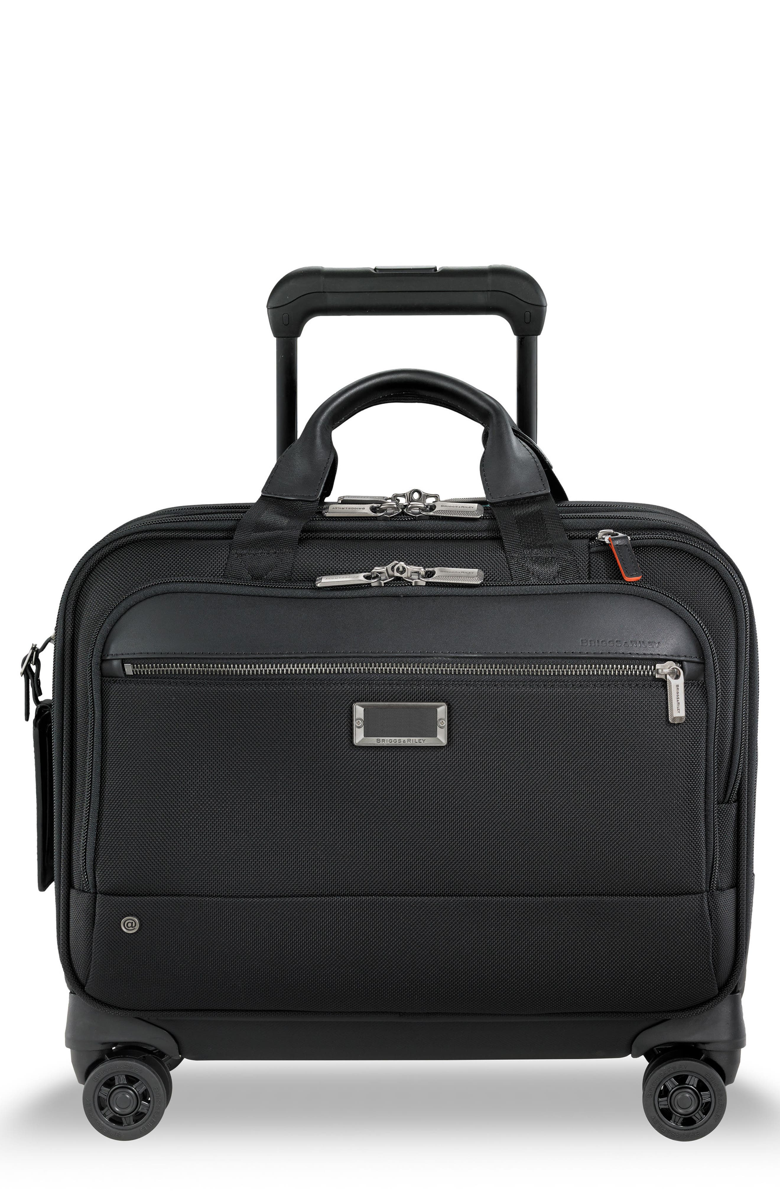 @work Medium Wheeled Briefcase,                             Main thumbnail 1, color,                             BLACK
