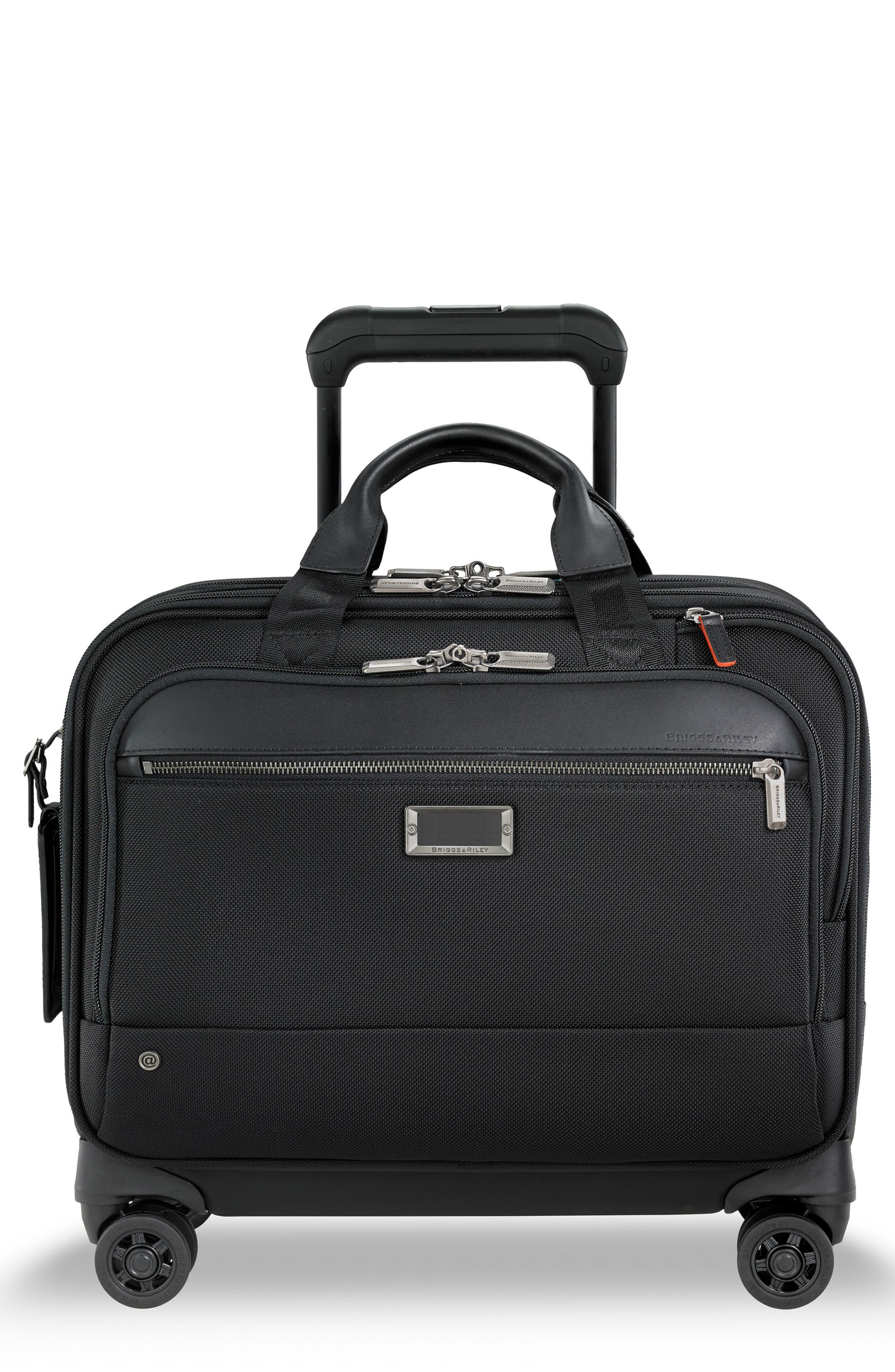 @work Medium Wheeled Briefcase, Main, color, BLACK