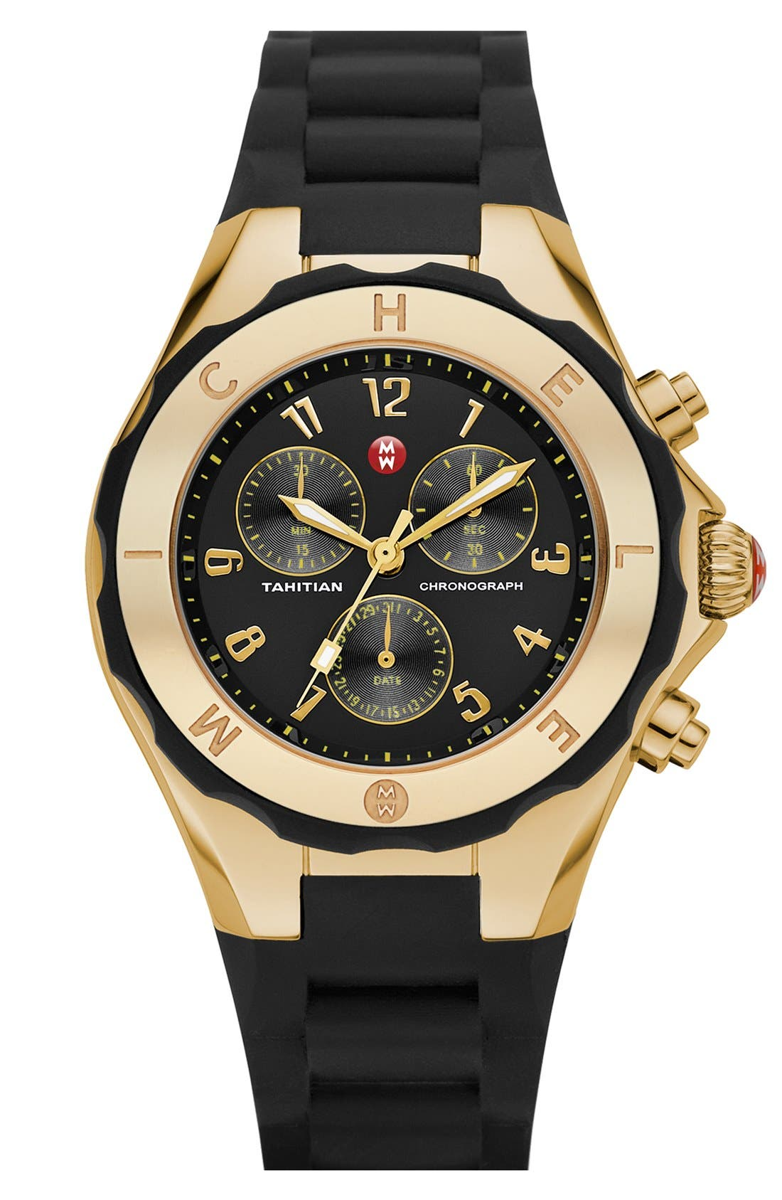'Tahitian Jelly Bean' Gold Plated Watch, 40mm,                             Main thumbnail 4, color,