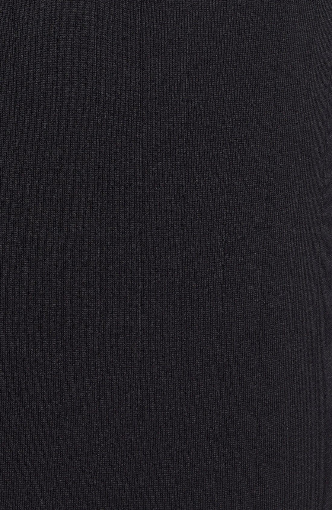 Quarter Zip Wool Sweater Vest,                             Alternate thumbnail 5, color,                             001