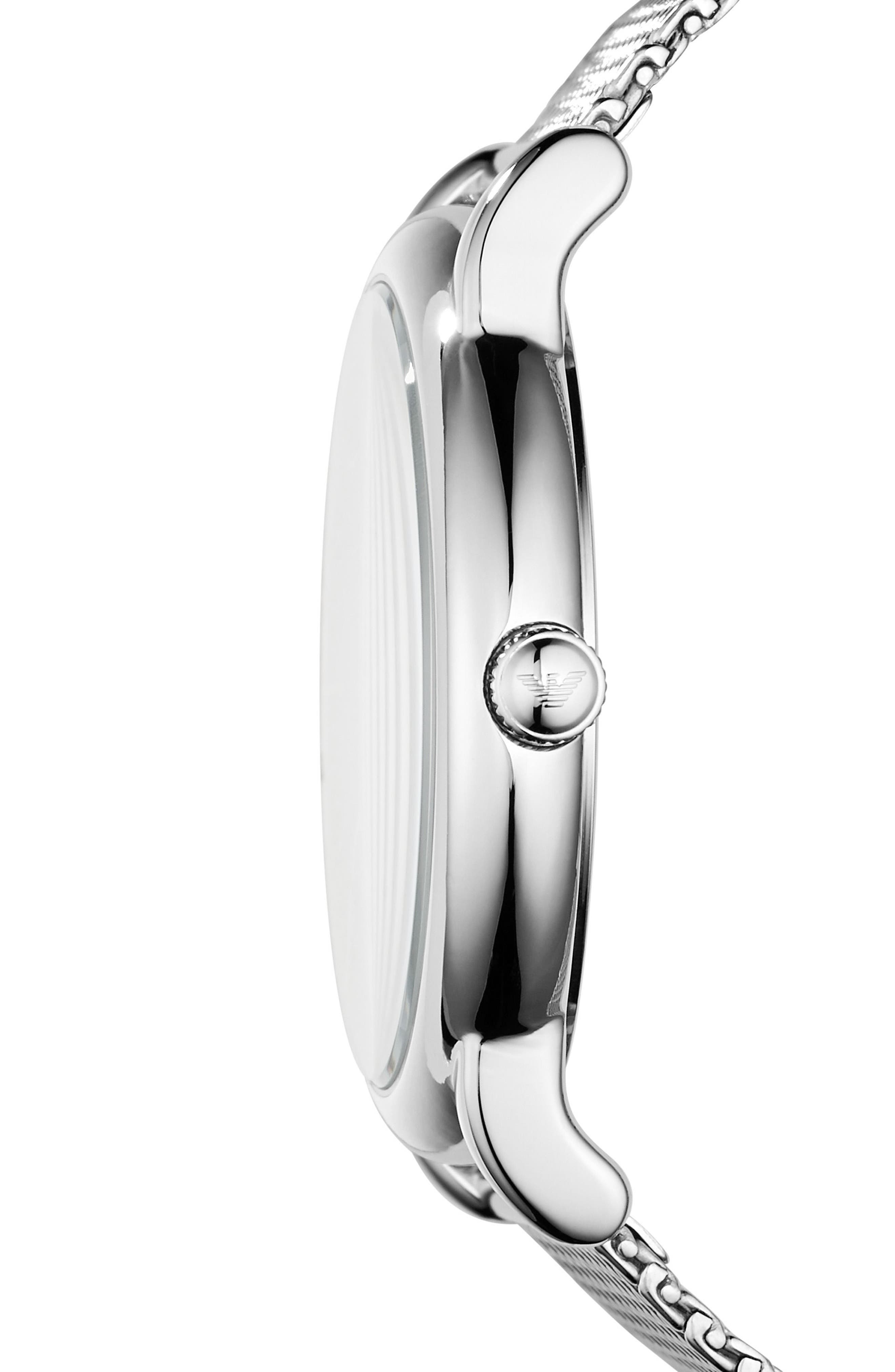 Slim Mesh Bracelet Watch,                             Alternate thumbnail 2, color,                             040
