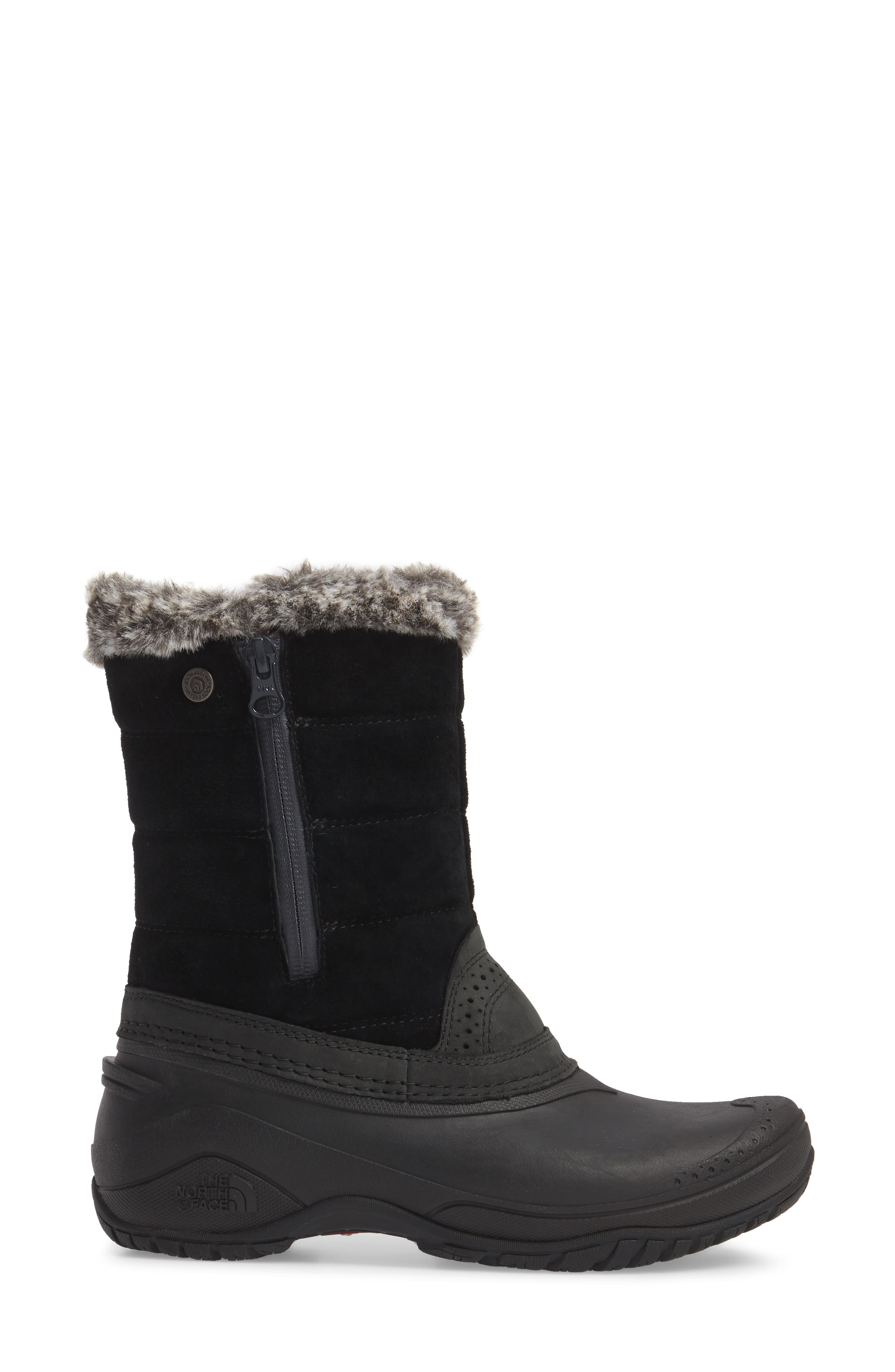 THE NORTH FACE,                             Shellista III Waterproof Pull-On Snow Boot,                             Alternate thumbnail 3, color,                             001
