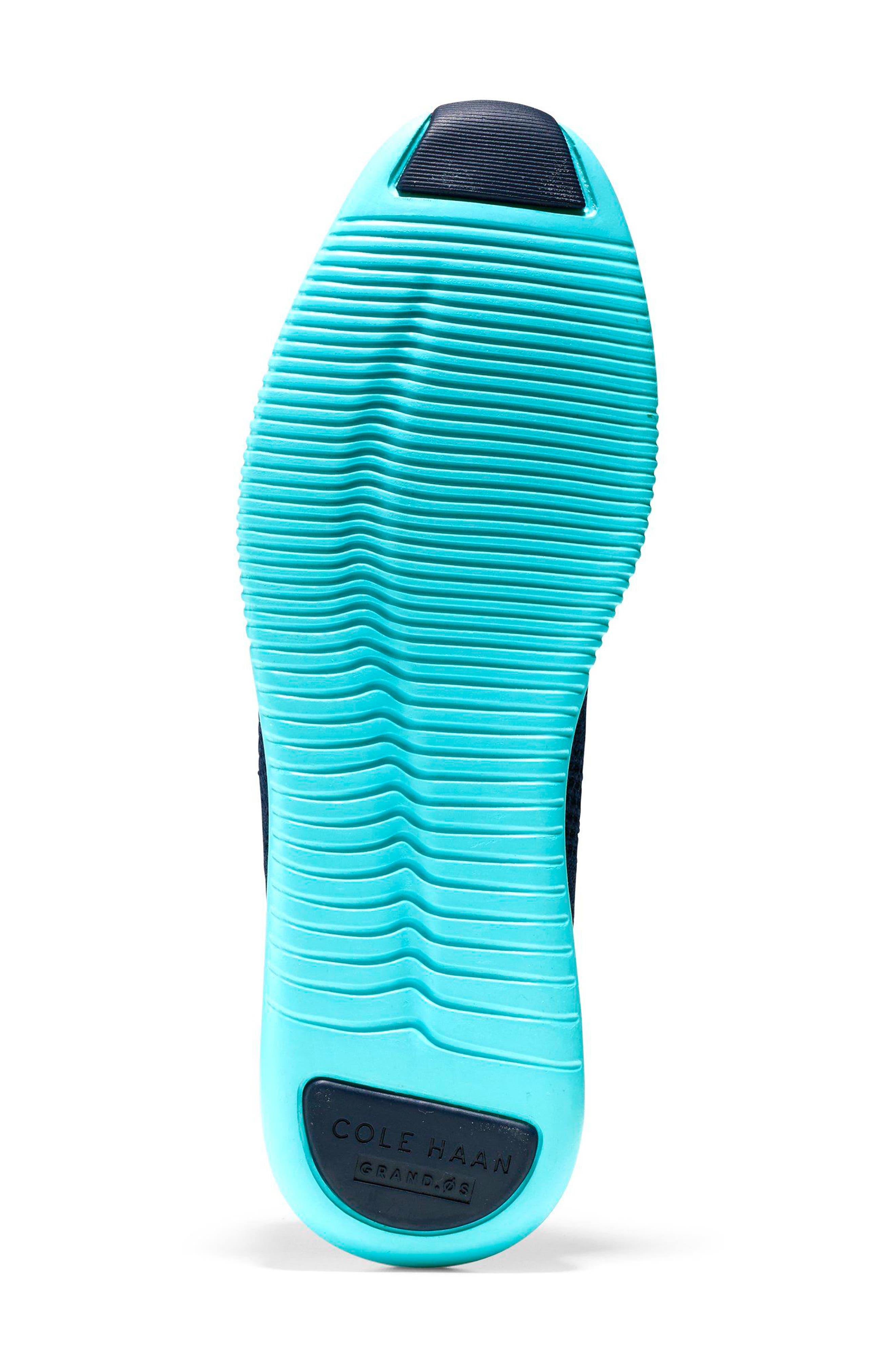 2.ZERØGRAND Stitchlite Wingtip Sneaker,                             Alternate thumbnail 6, color,                             MARINE BLUE/ BLUEFISH FABRIC
