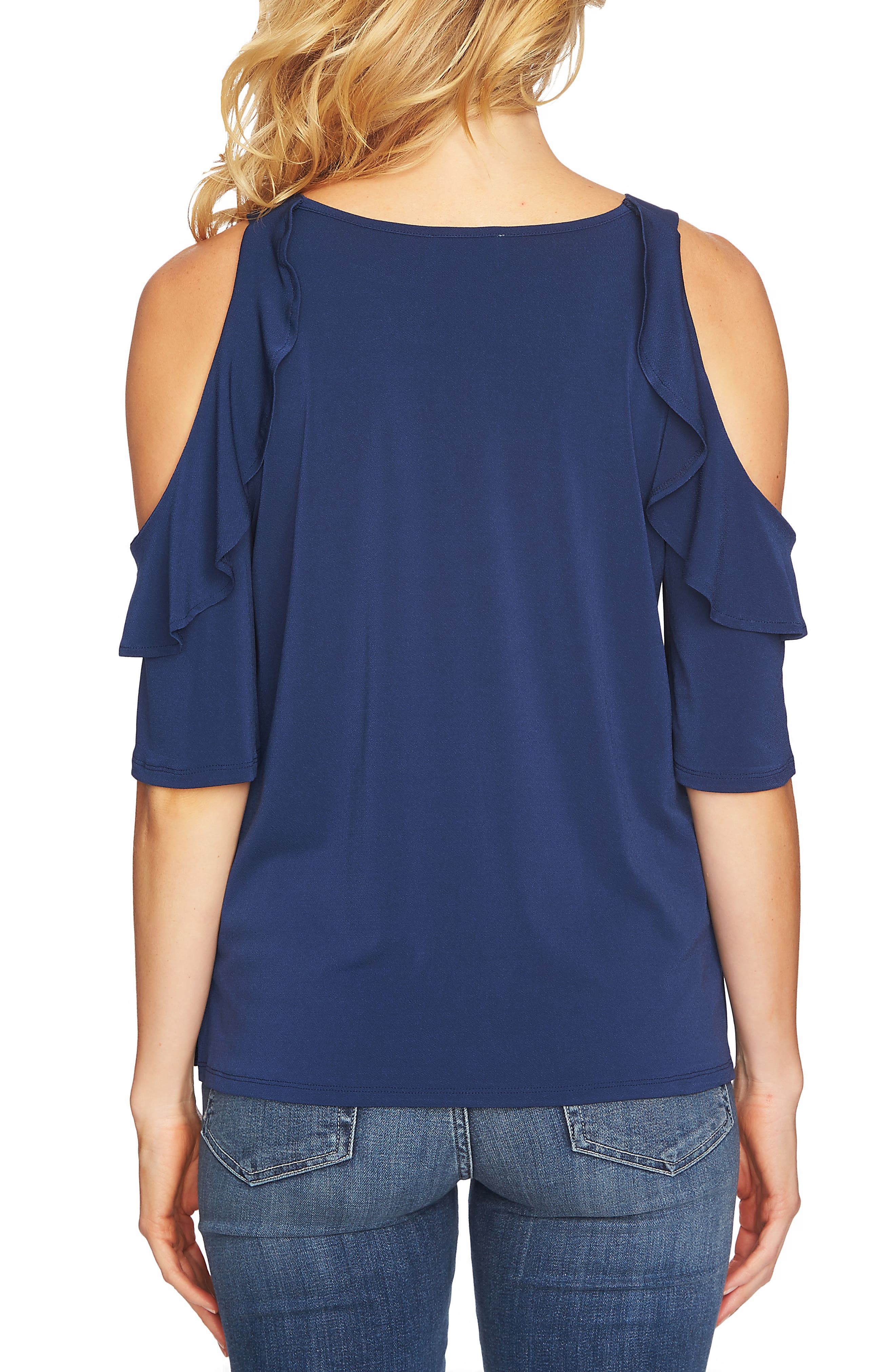 Cold Shoulder Ruffle Knit Top,                             Alternate thumbnail 2, color,                             429