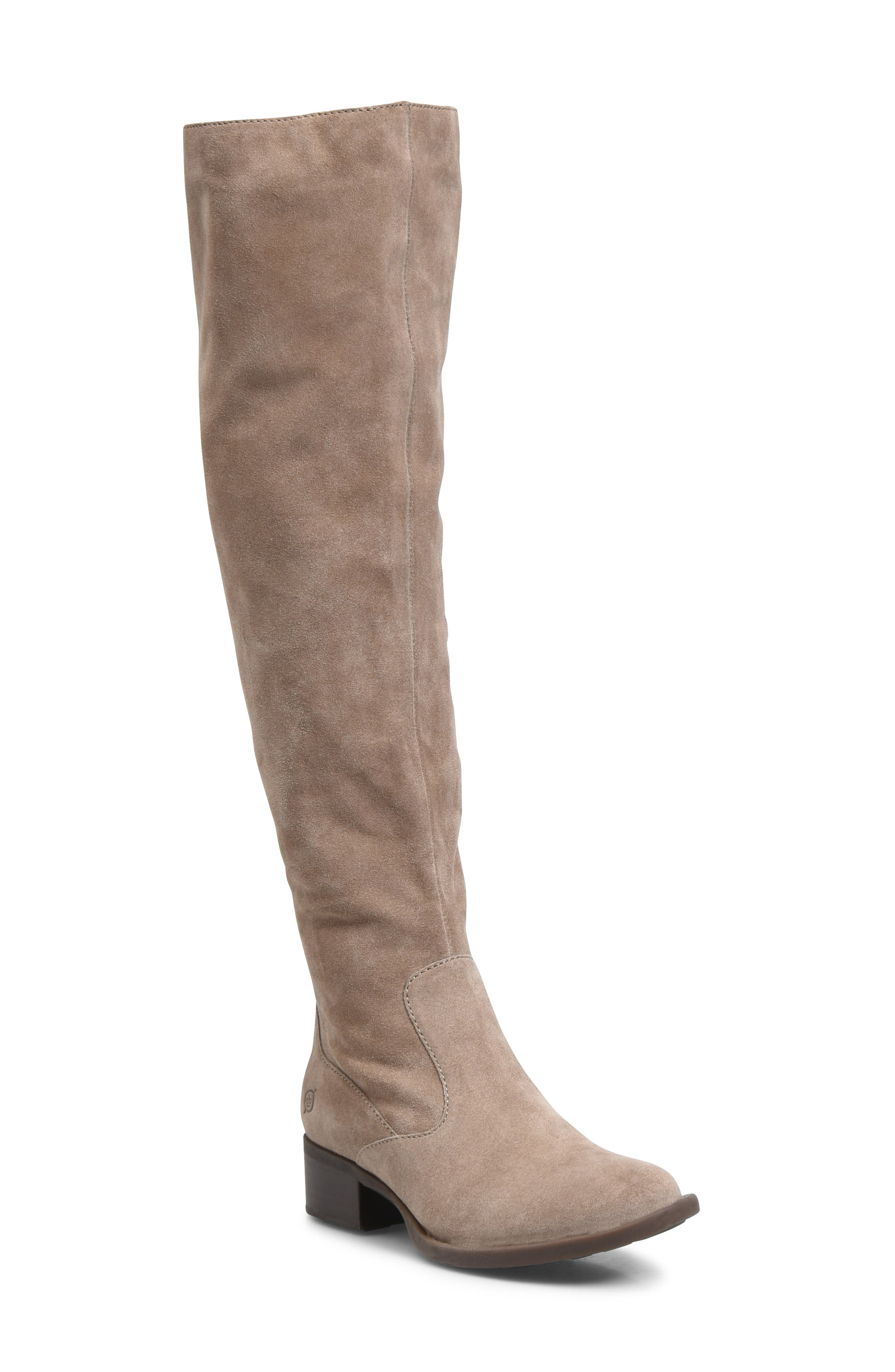 Cricket Over the Knee Boot,                             Main thumbnail 1, color,                             TAUPE SUEDE