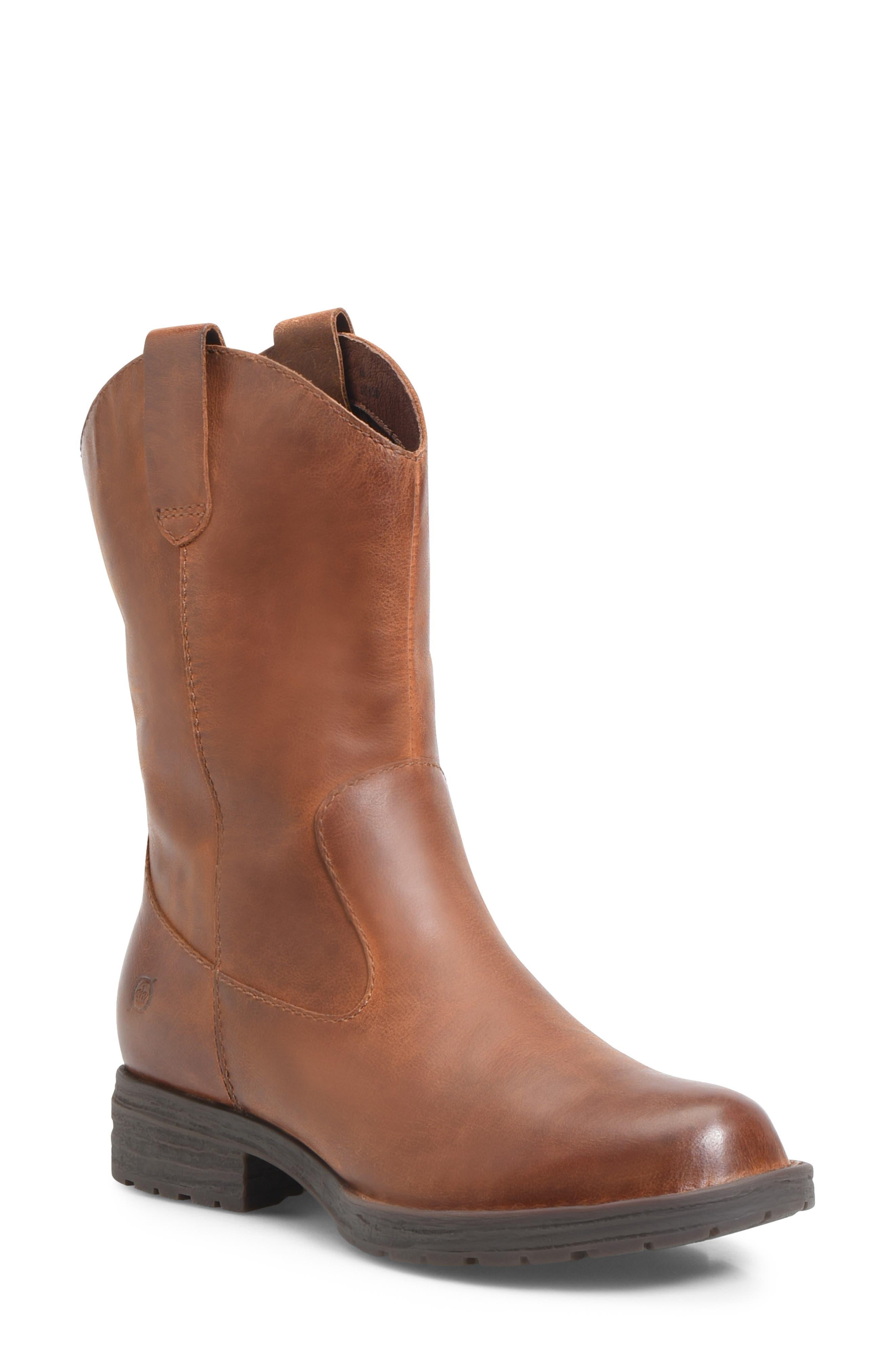B?rn Basin Waterproof Western Boot- Brown