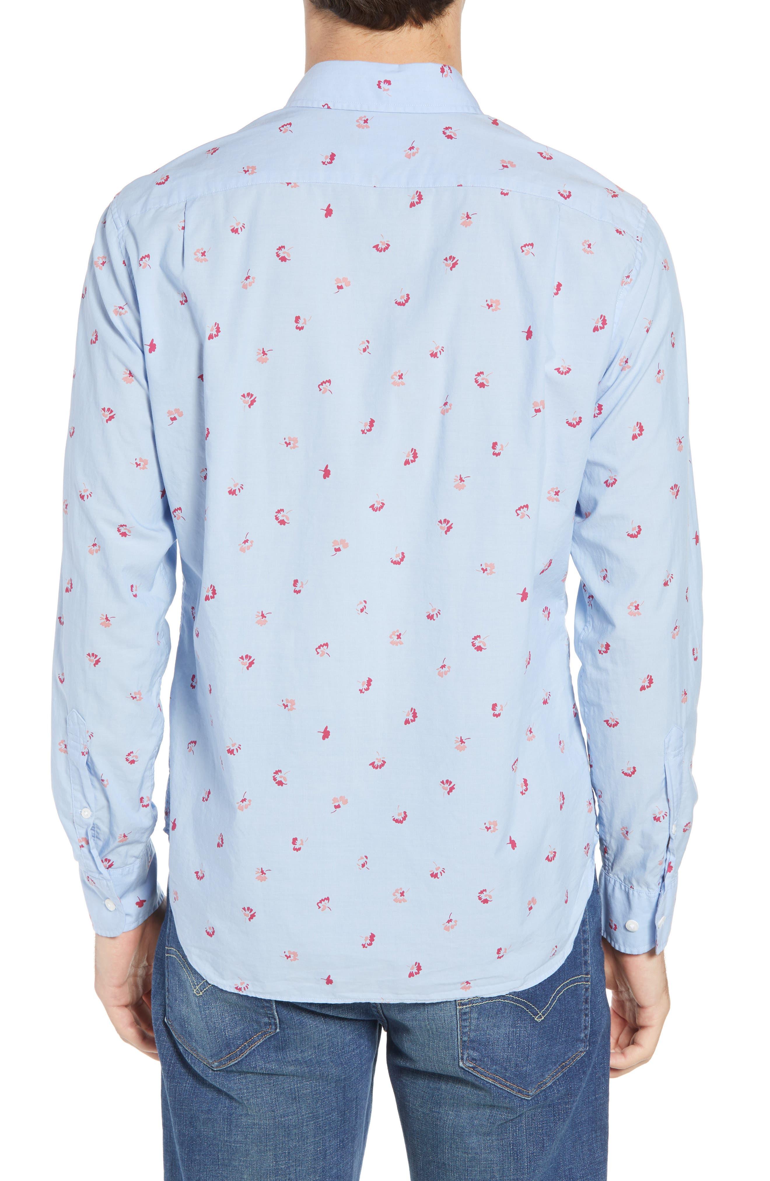 Slim Fit Floral Sport Shirt,                             Alternate thumbnail 2, color,