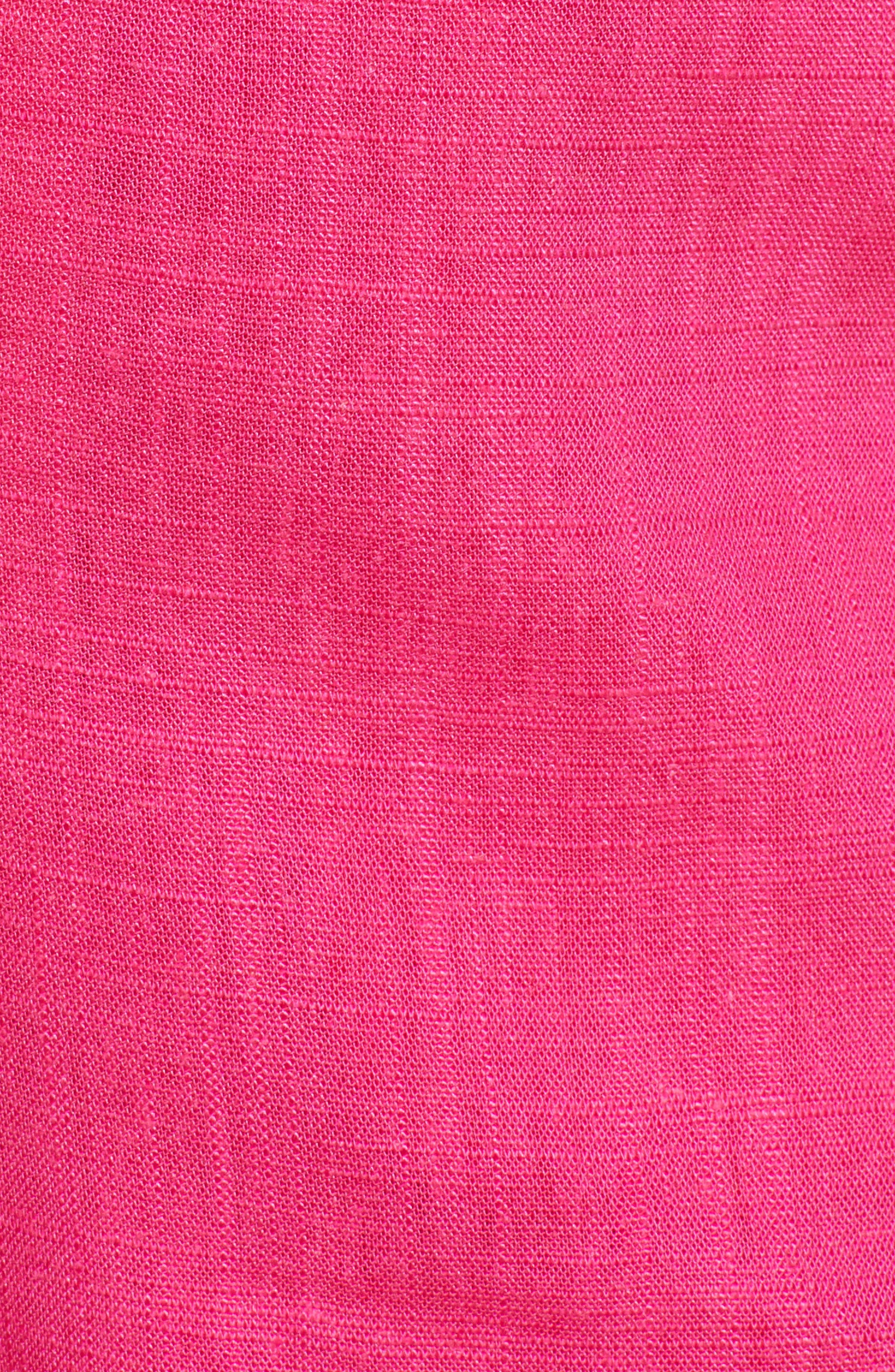Button Front Linen & Cotton Shorts,                             Alternate thumbnail 5, color,                             650