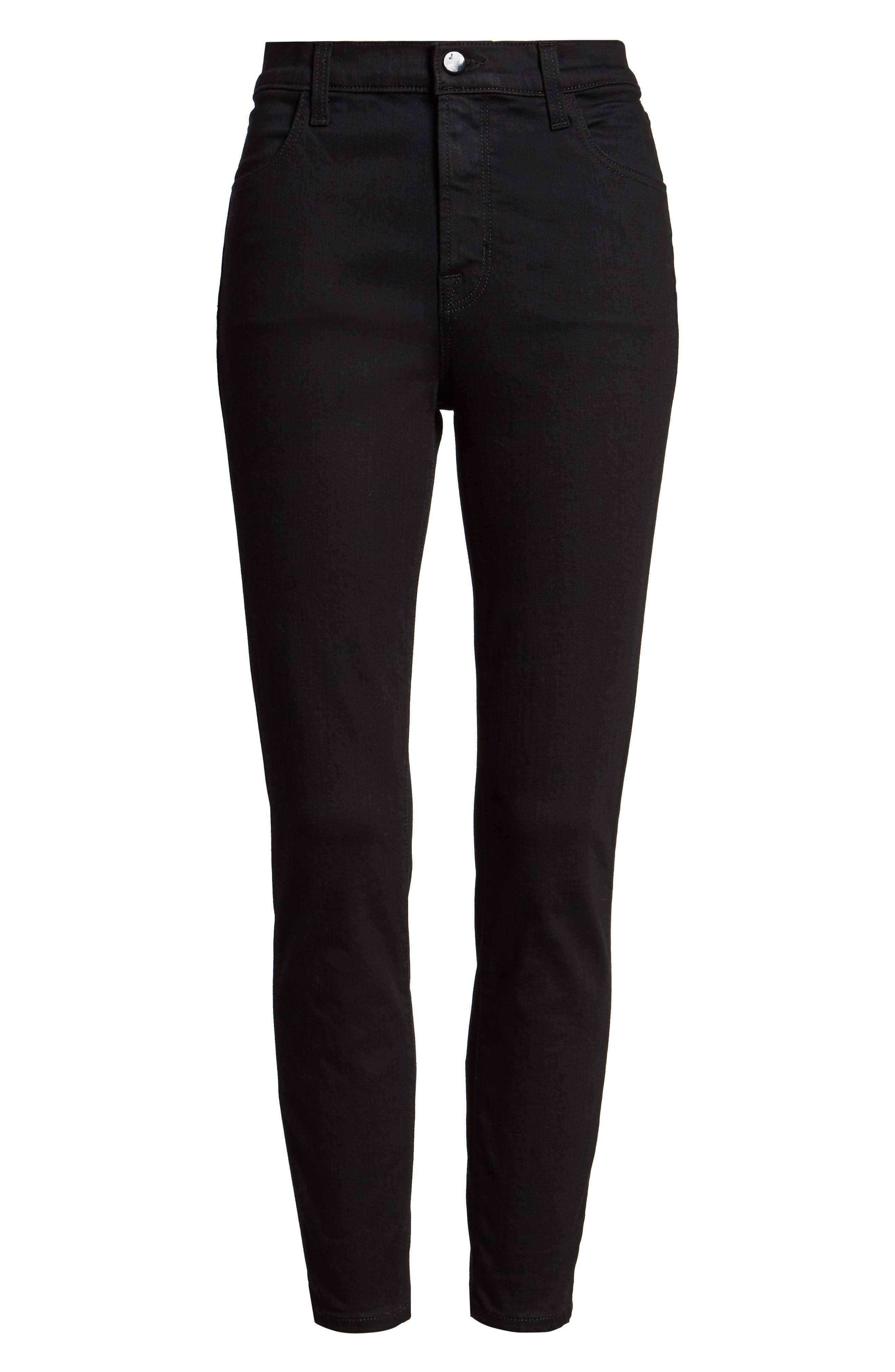 Alana High Waist Crop Skinny Jeans,                             Alternate thumbnail 6, color,                             002