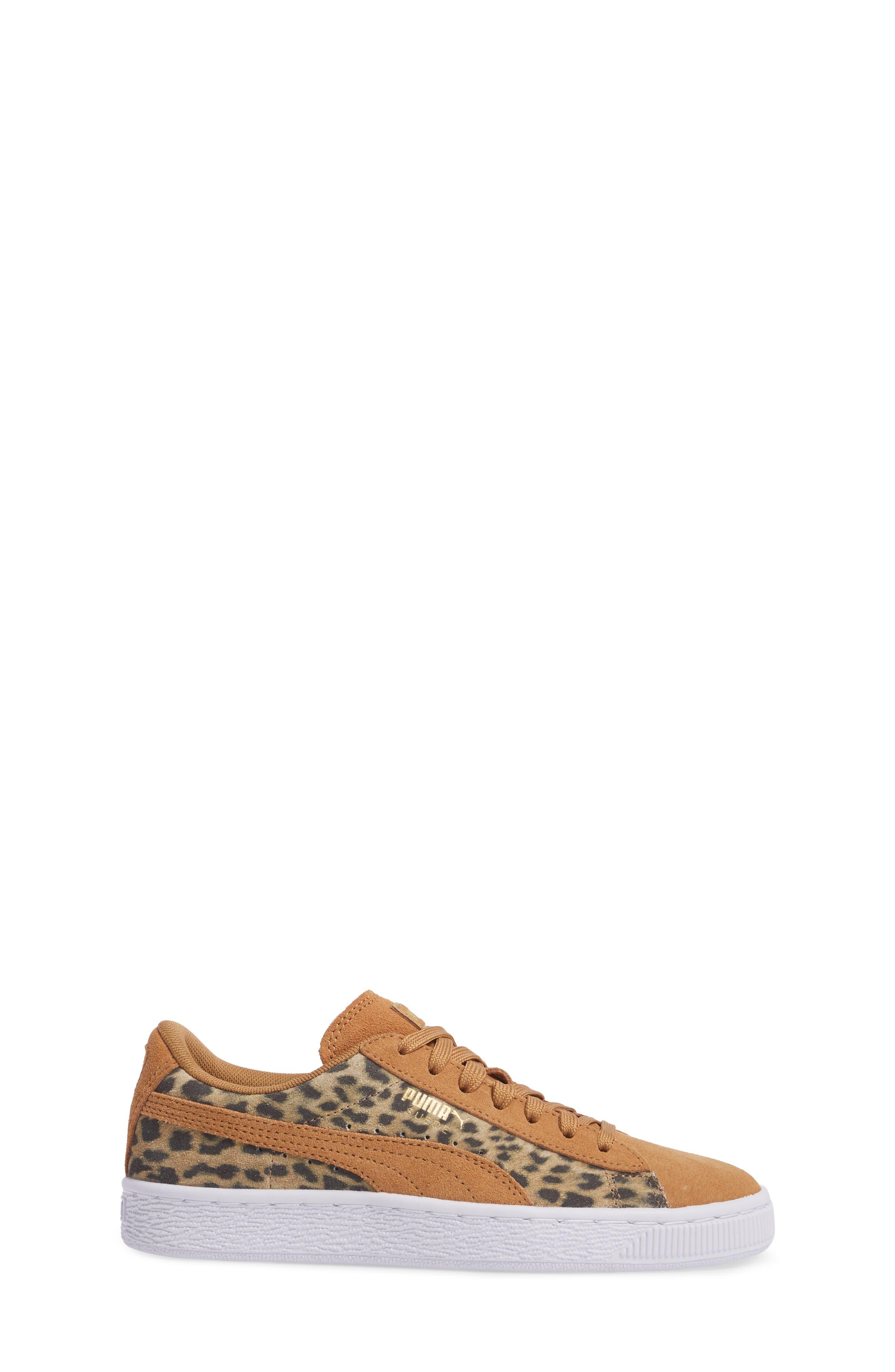 Suede Animal Sneaker,                             Alternate thumbnail 3, color,                             200